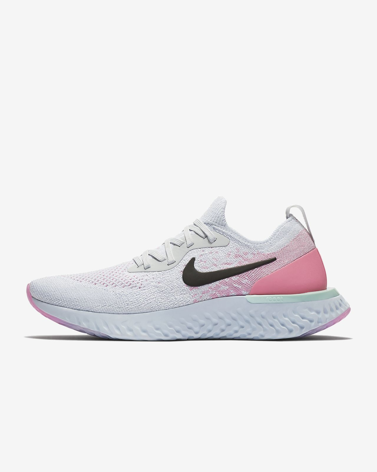 Nike Wmns Epic React Flyknit (Pure Platinum Pink Beam