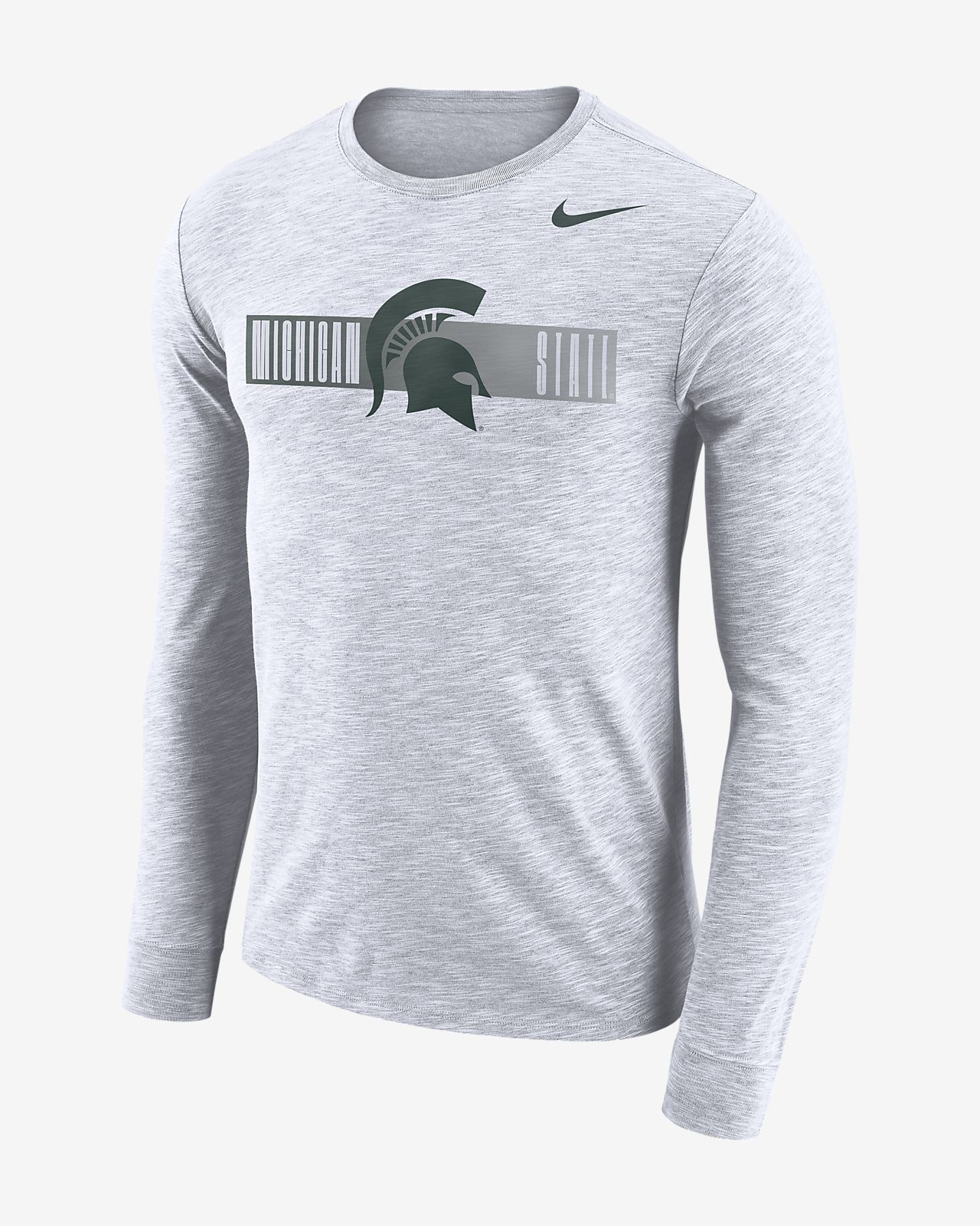 really comfortable multiple colors top design Nike College Dri-FIT (Michigan State) Men's Long-Sleeve T-Shirt