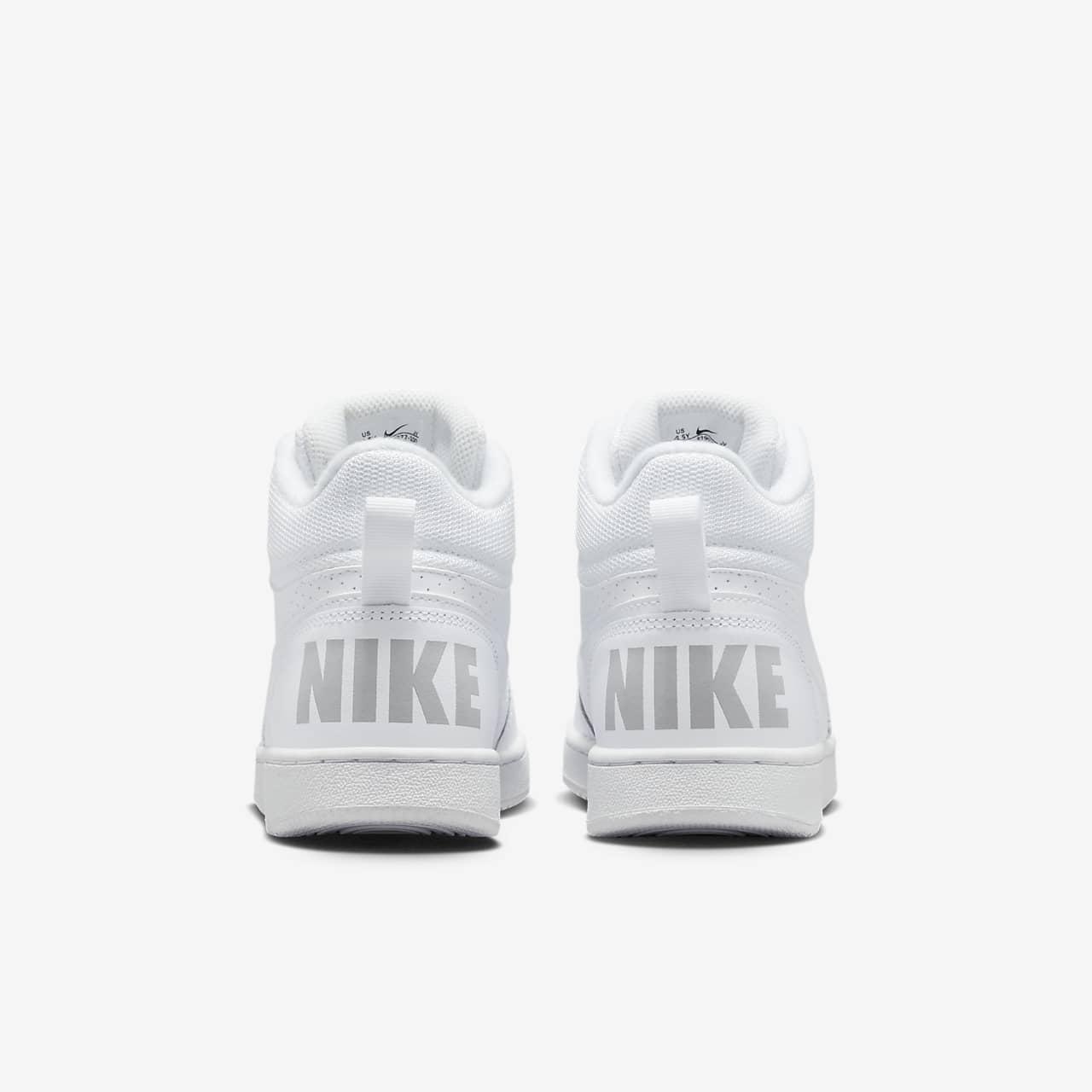 Nike Court Borough Mid Big Kid/'s Shoes White//White 839977-100