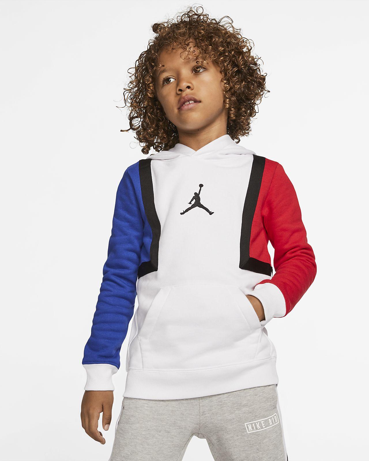 Mikina Jordan Jumpman v kontrastních barvách s kapucí pro malé děti