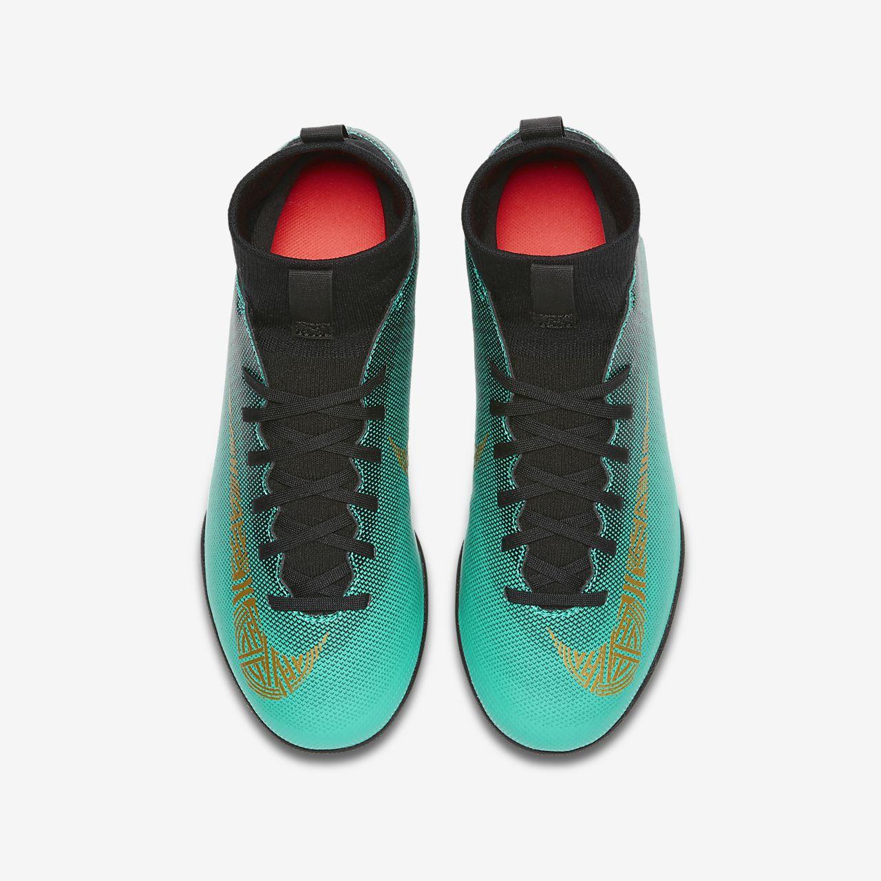 Nike Jr. MercurialX Superfly VI Club CR7 TF Botas de fútbol para ...