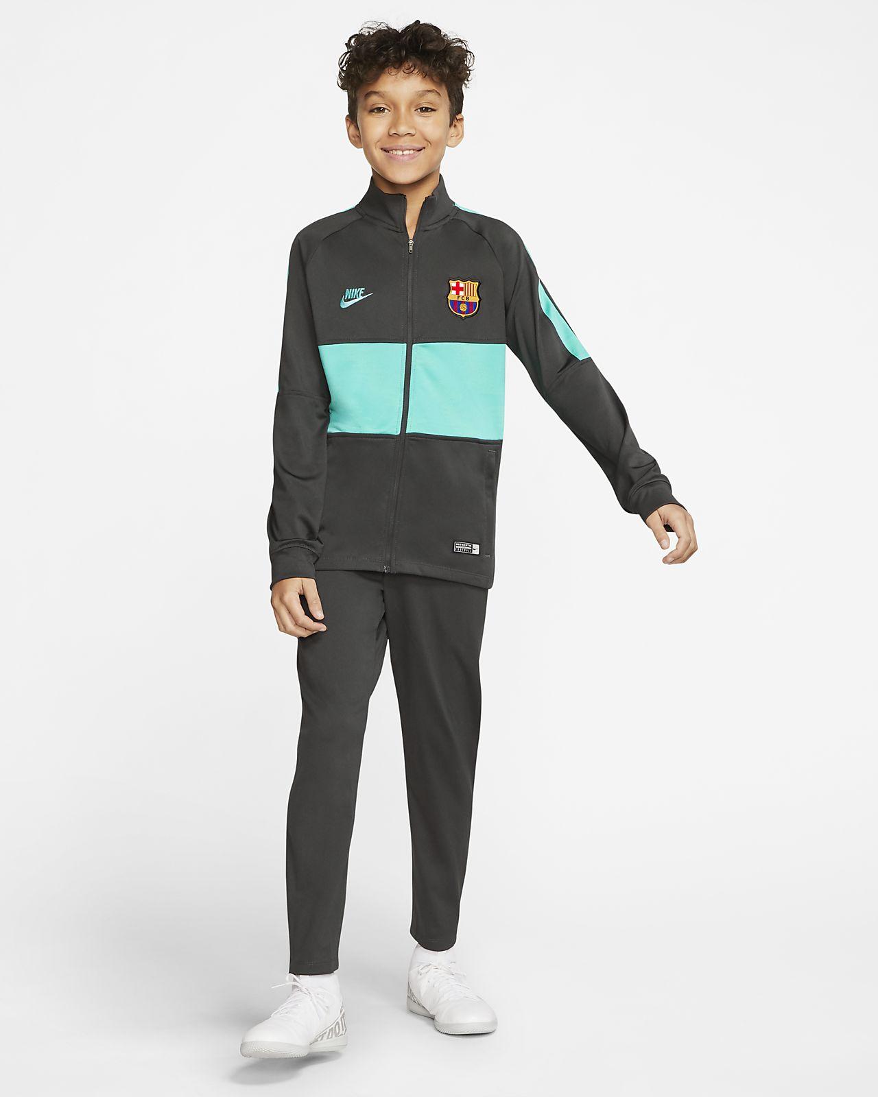 Conjunto de entrenamiento de fútbol para niño talla grande Nike Dri-FIT FC Barcelona Strike