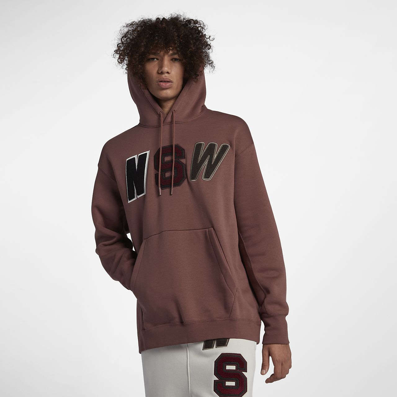 707a0e68639a8 Felpa Loose Fit in fleece con cappuccio Nike Sportswear NSW - Uomo ...