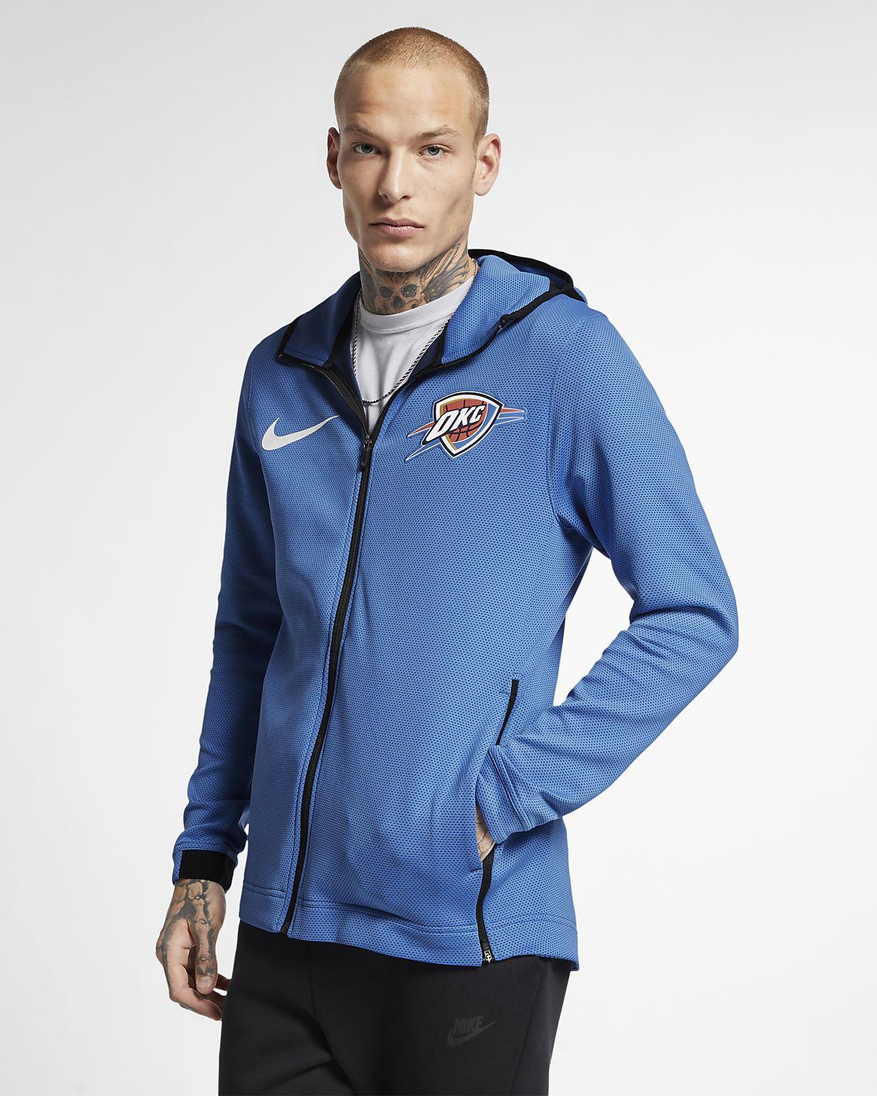 Oklahoma City Thunder Nike Therma Flex Showtime NBA-s kapucnis férfipulóver