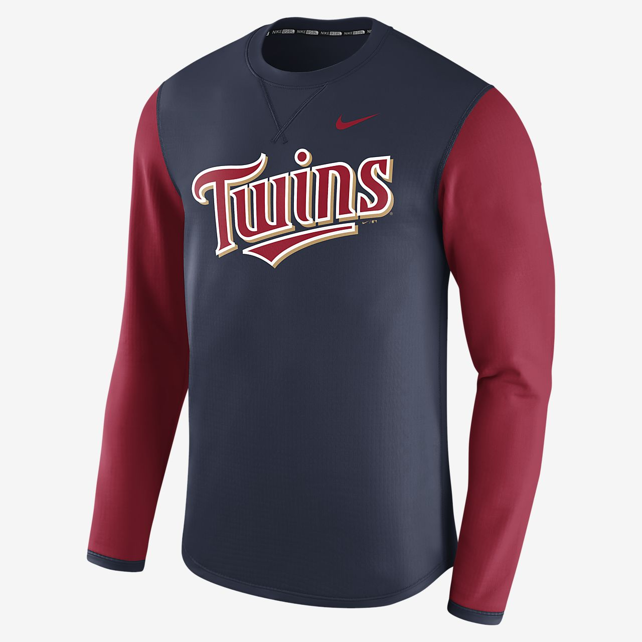 Nike Thermal Crew (MLB Twins) Men's Long Sleeve Shirt. Nike.com
