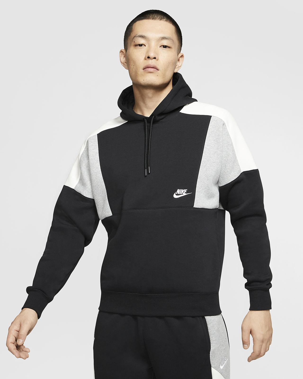 Nike Sportswear Colour Block Pullover Hoodie