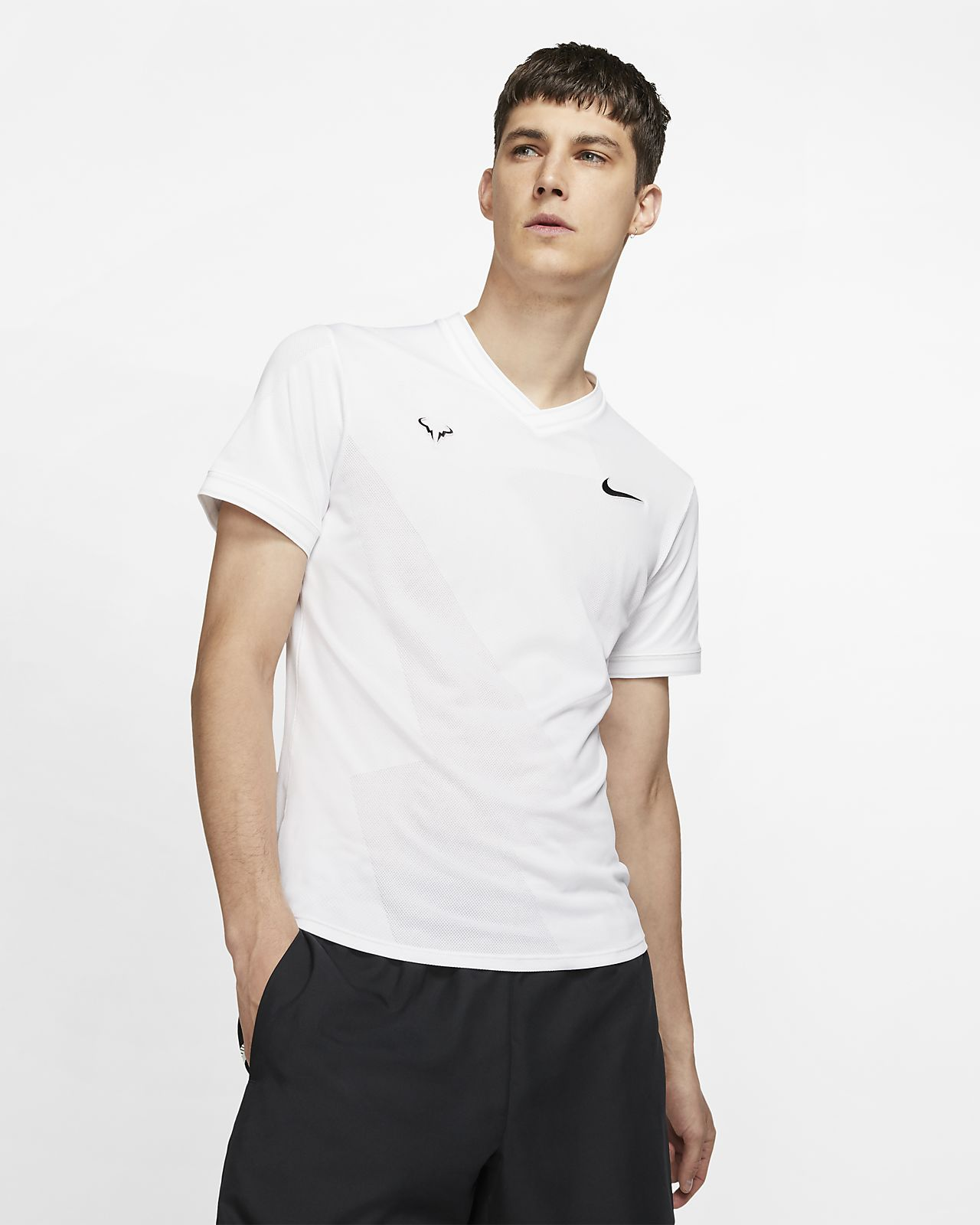 Męska koszulka z krótkim rękawem do tenisa NikeCourt AeroReact Rafa