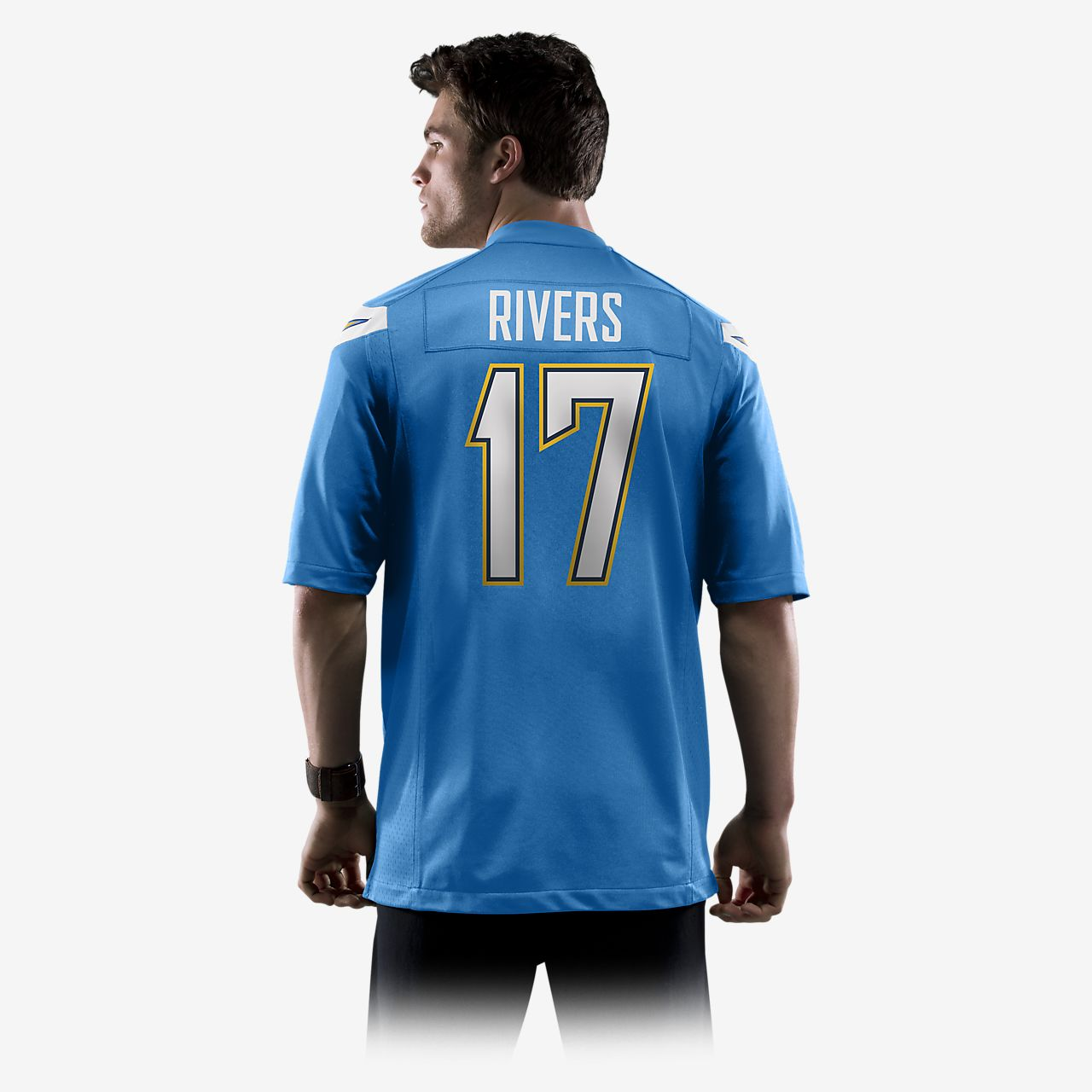 a3c46fcd15d ... NFL Los Angeles Chargers (Philip Rivers) Men's Football Alternate Game  Jersey