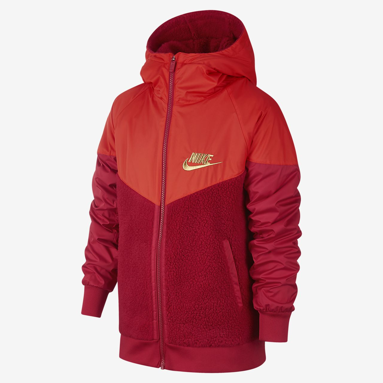 Nike Sportswear WindrunnerSherpa 大童(男孩)夹克