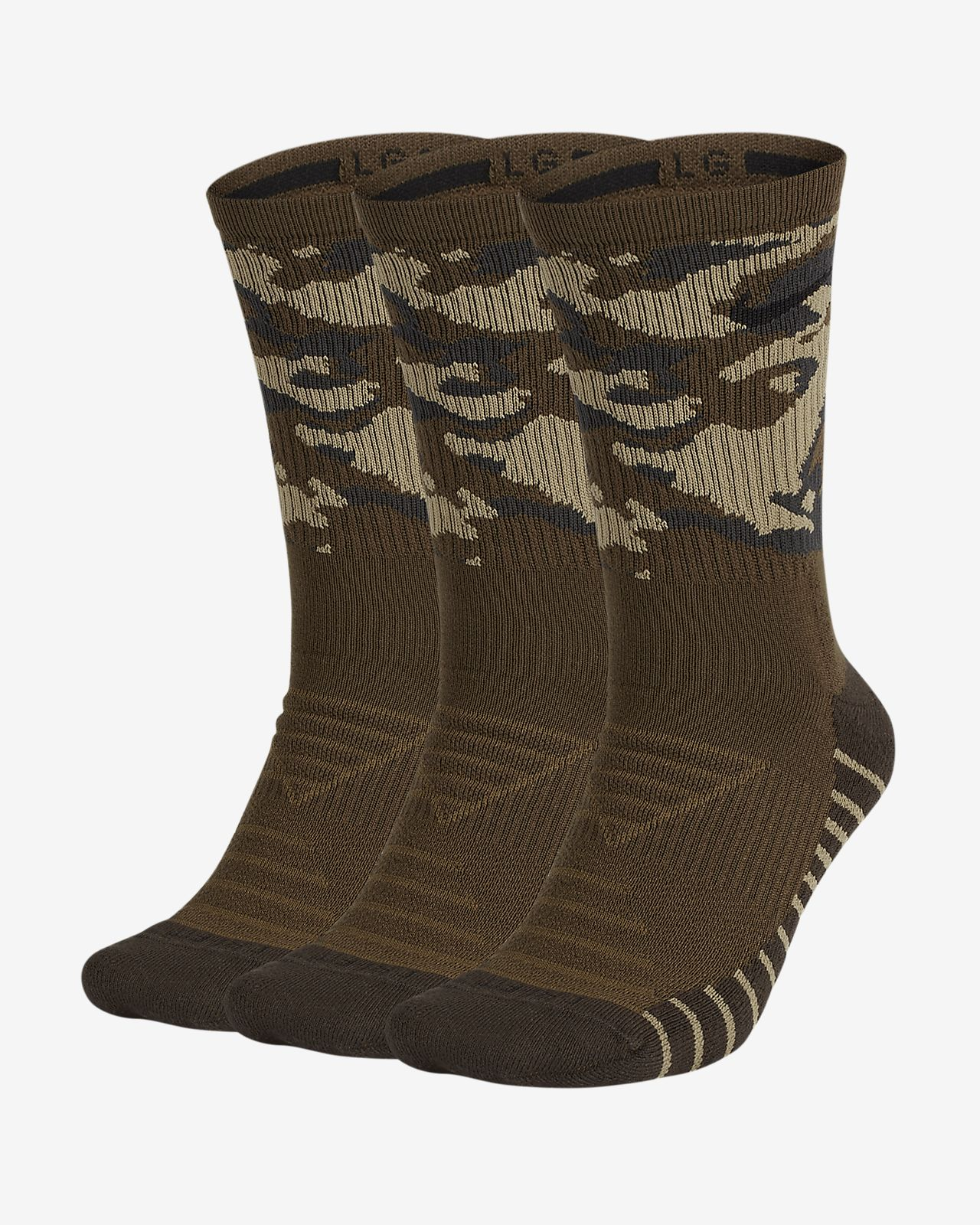 Chaussettes de training camouflage mi-mollet Nike Everyday Max Cushion (3 paires)