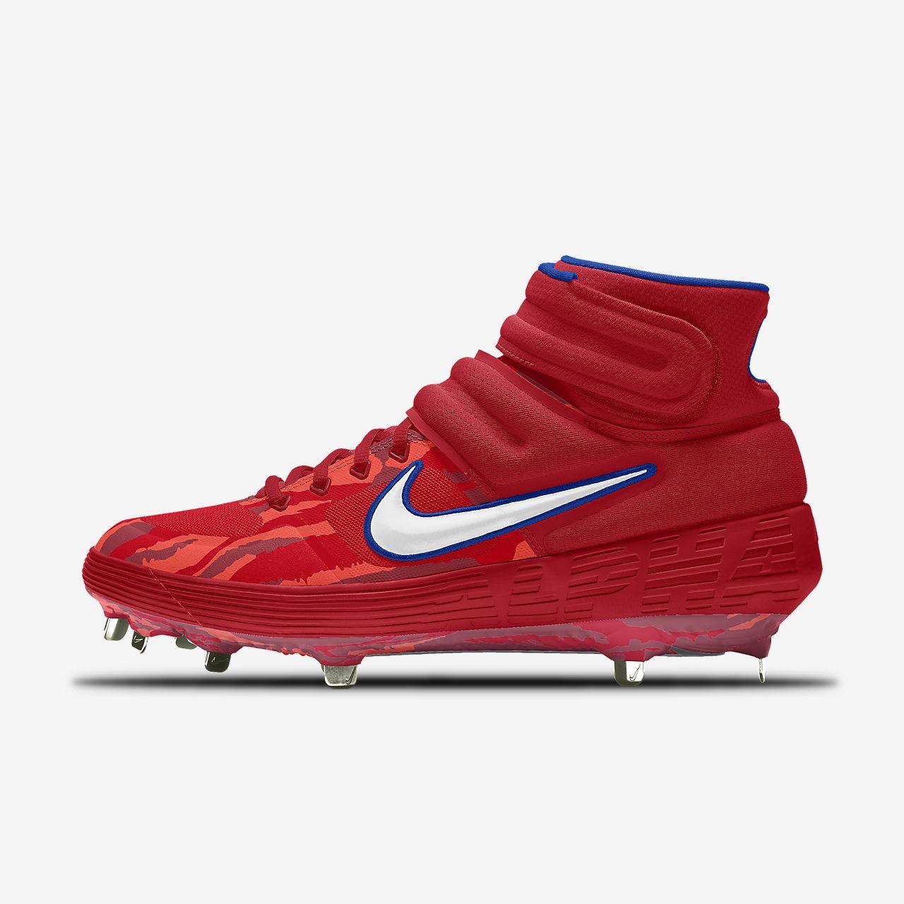 Nike Alpha Huarache Elite 2 Mid Metal Premium By You Custom Baseball Cleat
