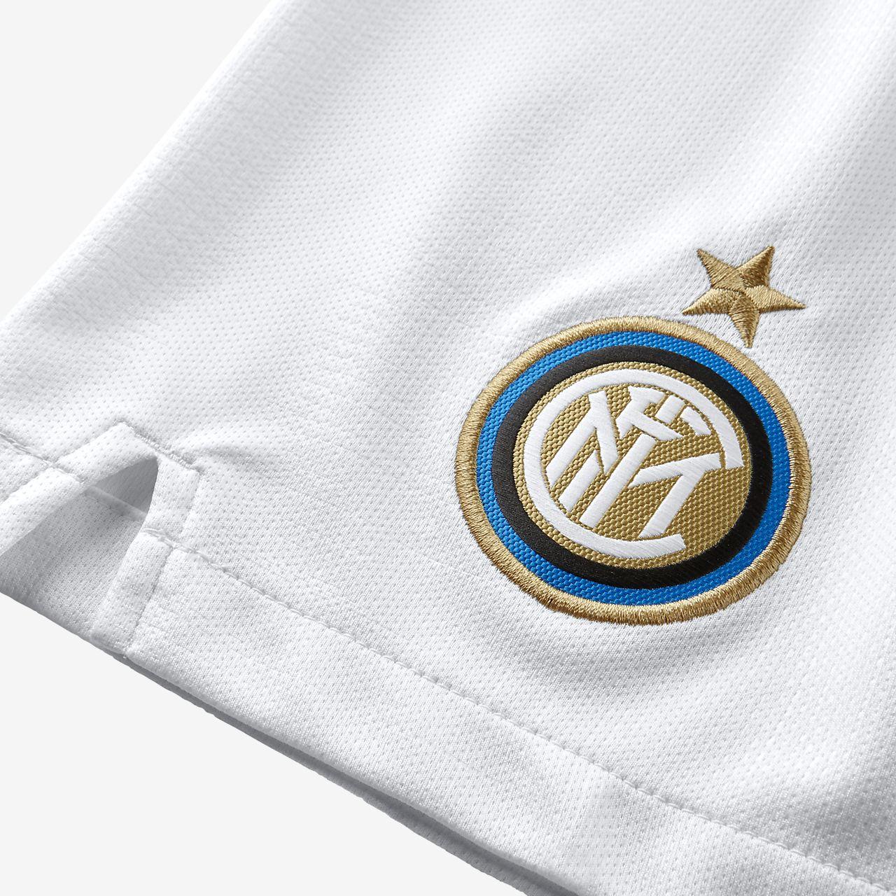 34f0452dd0762 ... 2018 19 Inter Milan Stadium Home Away Pantalón corto de fútbol - Niño