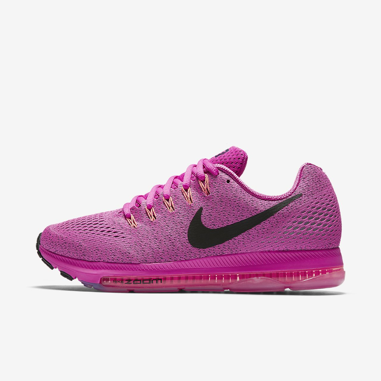 NIKE WOMENS ZOOM ALL OUT LOW UK SIZE 3 - 5.5 RUNNING TRAINER SHOE FIRE PINK NEW