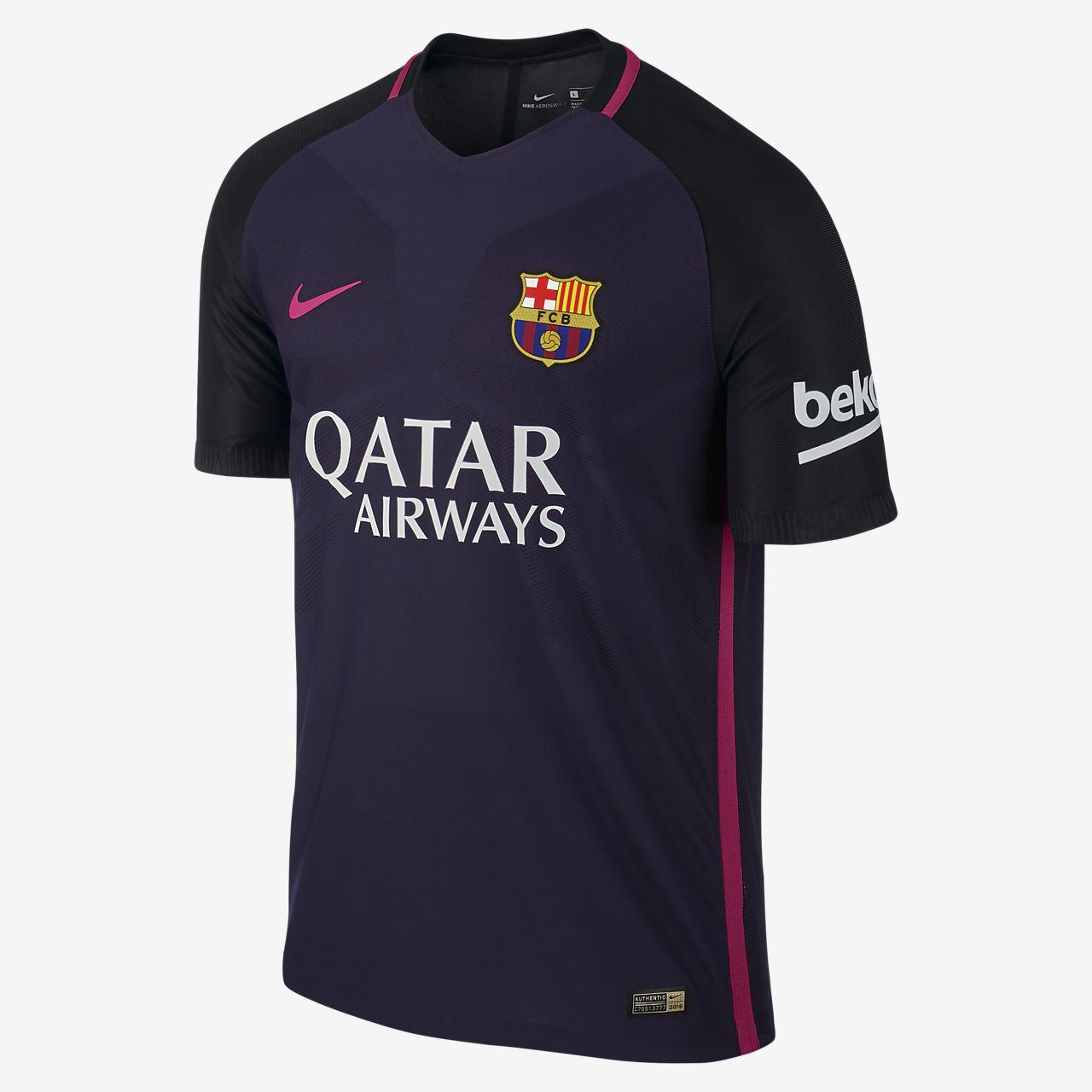 Camiseta de fútbol para hombre FC Barcelona Vapor de visitante para  jugadores 131ab0de9e4c3