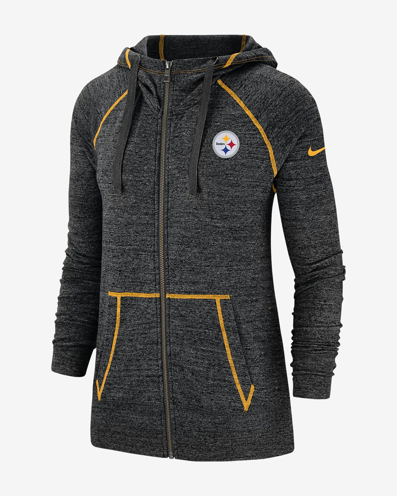 hot sale online 5a541 a8ace Nike Gym Vintage (NFL Steelers) Women's Full-Zip Hoodie