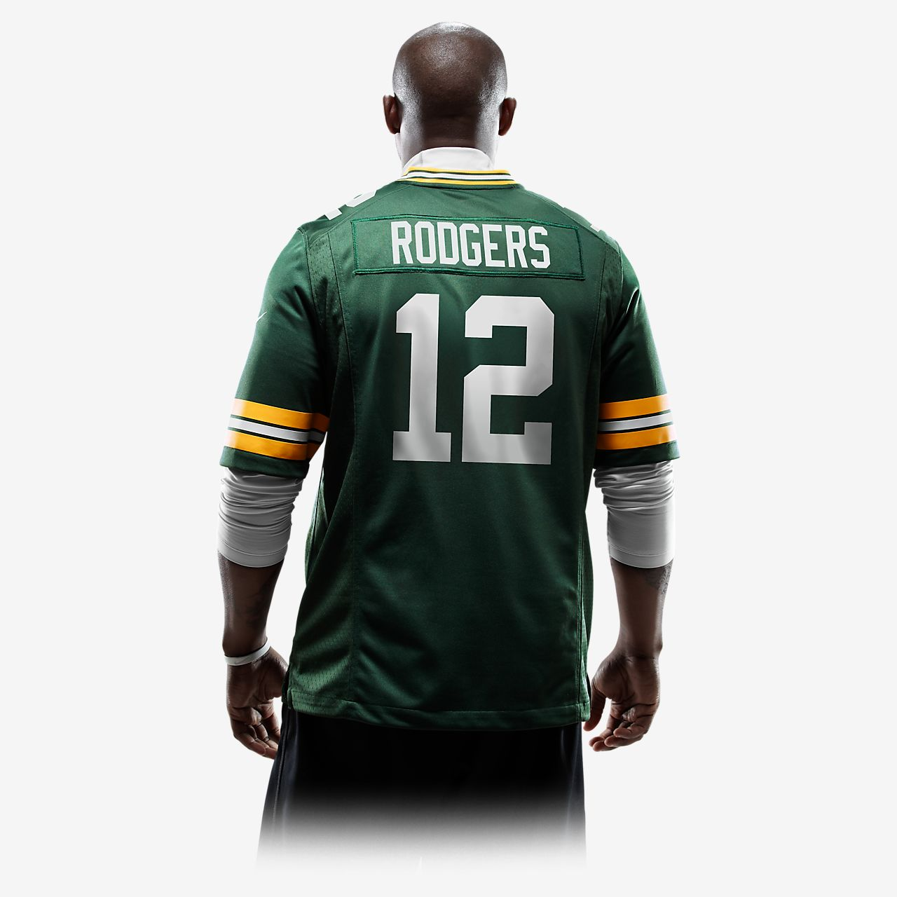... Camiseta oficial de fútbol americano de local para hombre de NFL Green  Bay Packers (Aaron 820013a049943