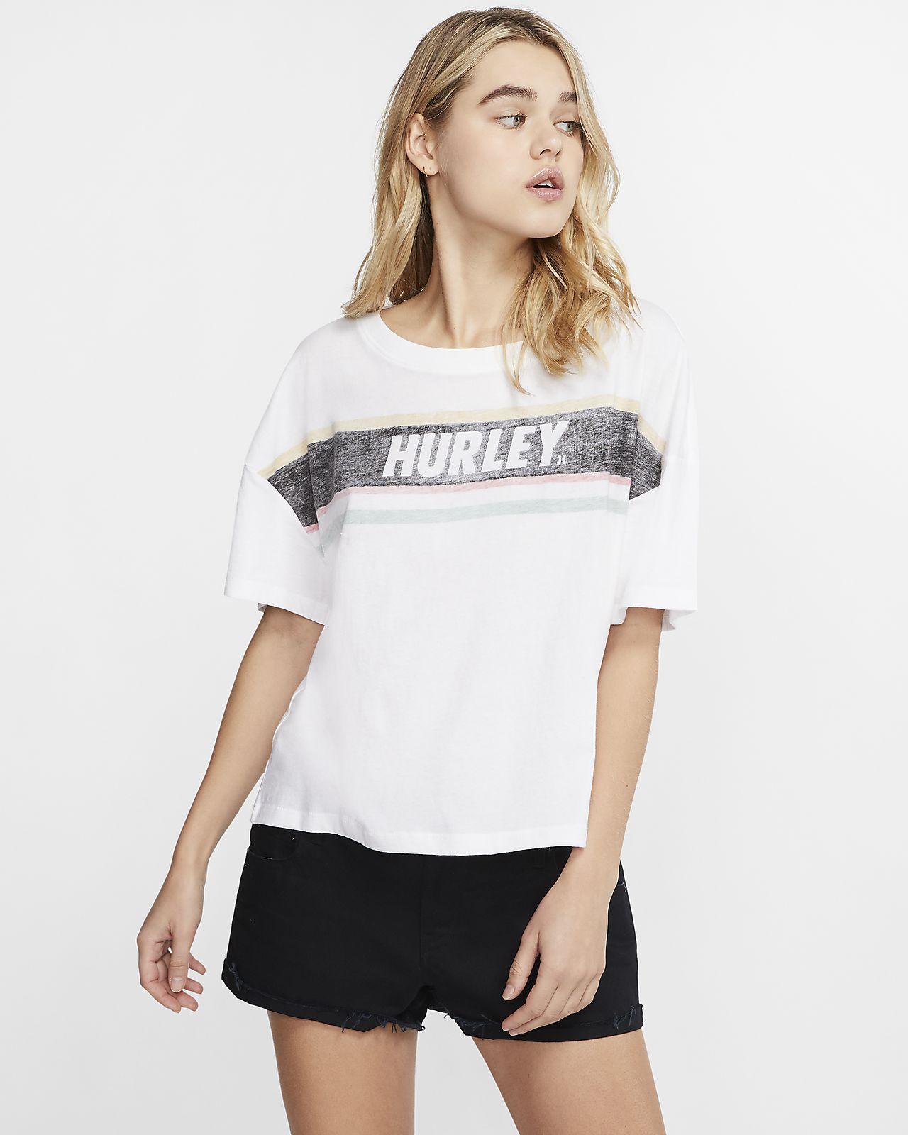 Hurley Sporty Stripes Flouncy Camiseta - Mujer