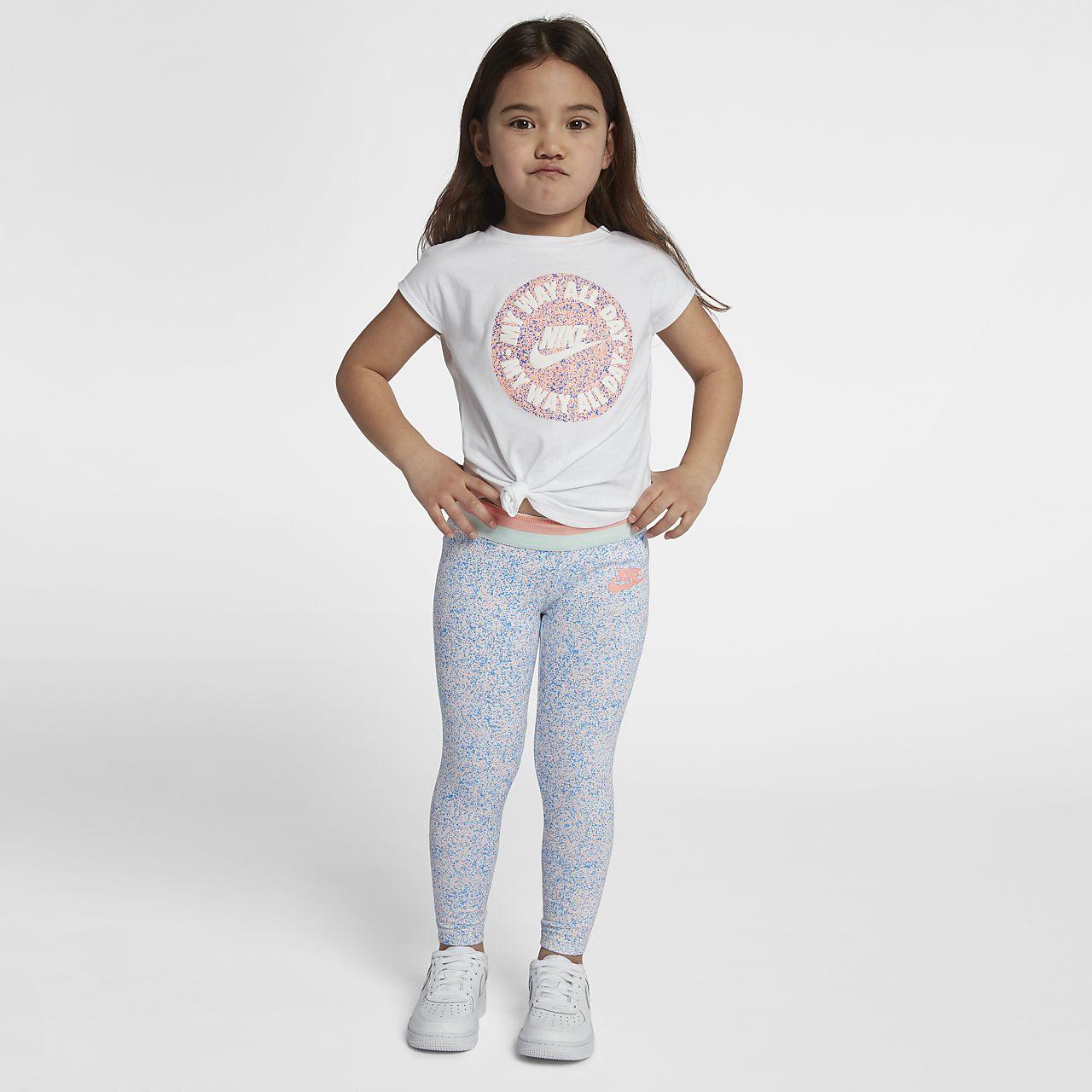 nike sportswear club little kids' (girls') printed leggings. nike