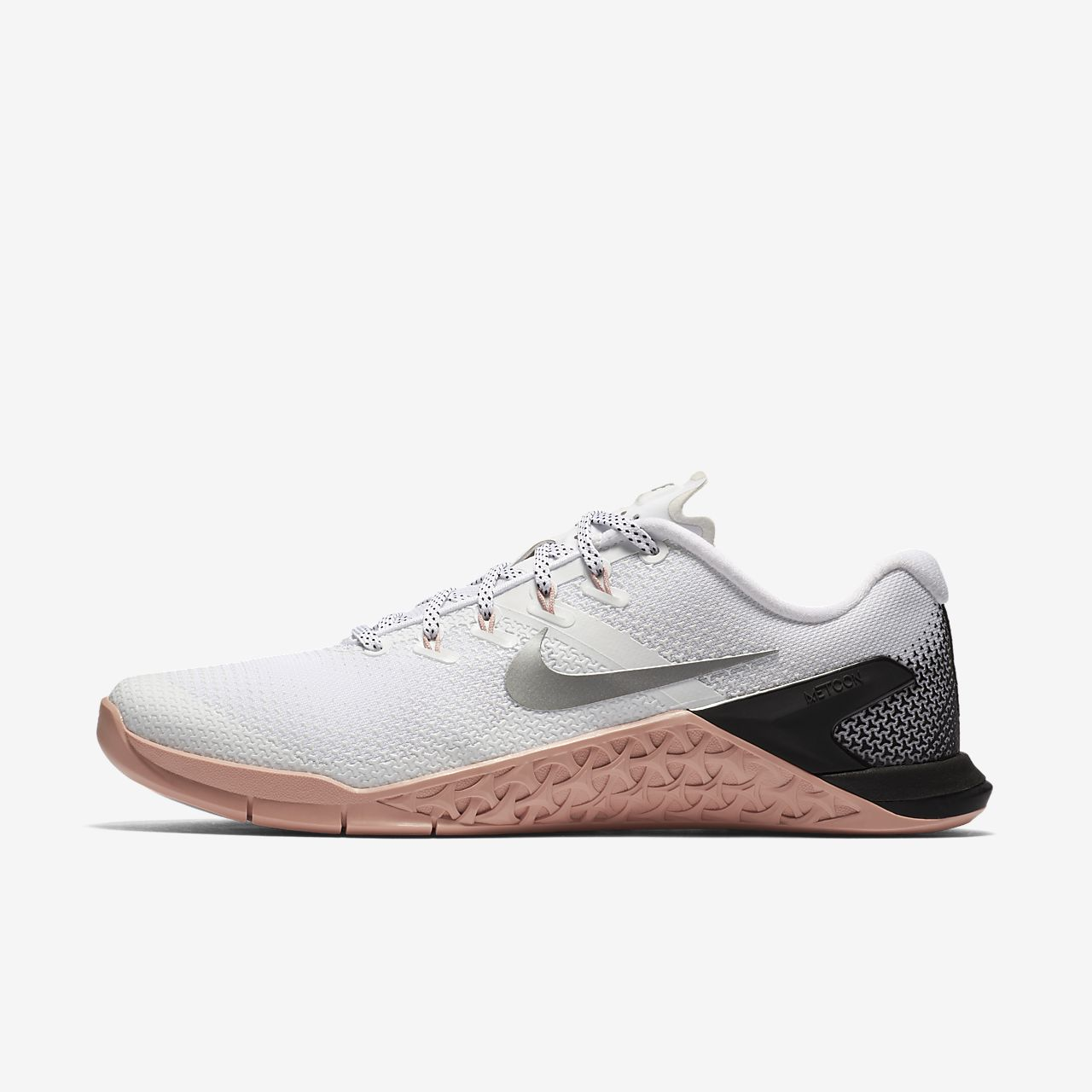 NIKE METCON 4 Women's Cross Training Weightlifting Shoe - White/Rust Pink/Black