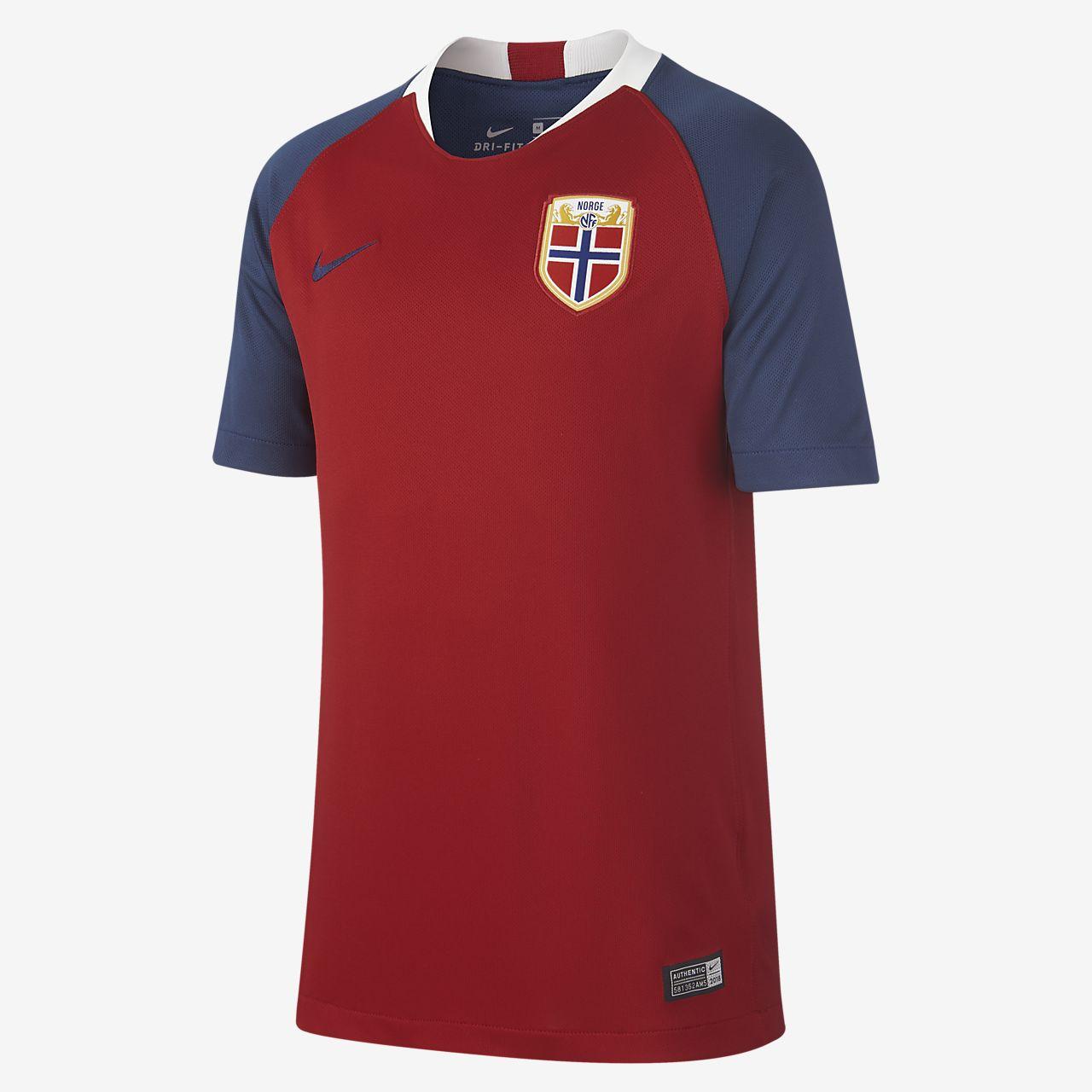 2018 Norwegen Stadium Home Fußballtrikot für ältere Kinder