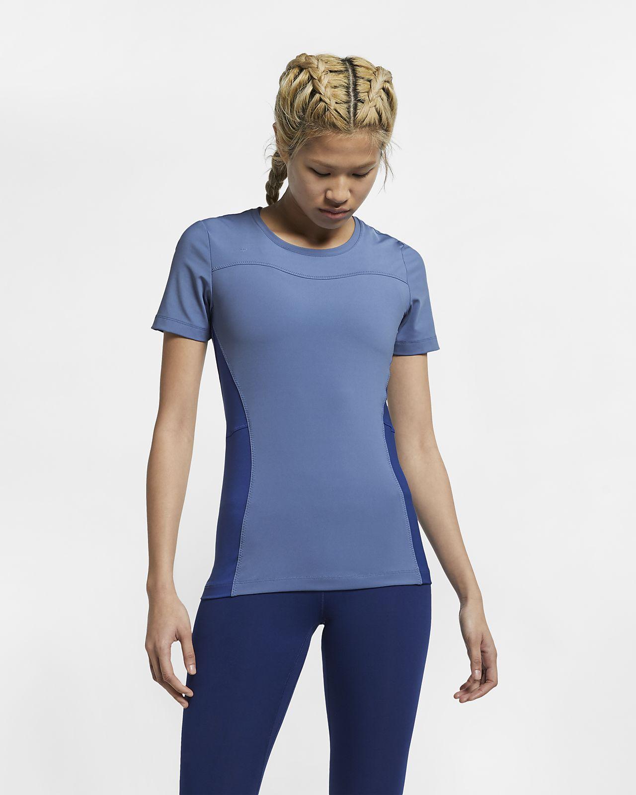 Nike Pro Kurzarm-Oberteil für Damen
