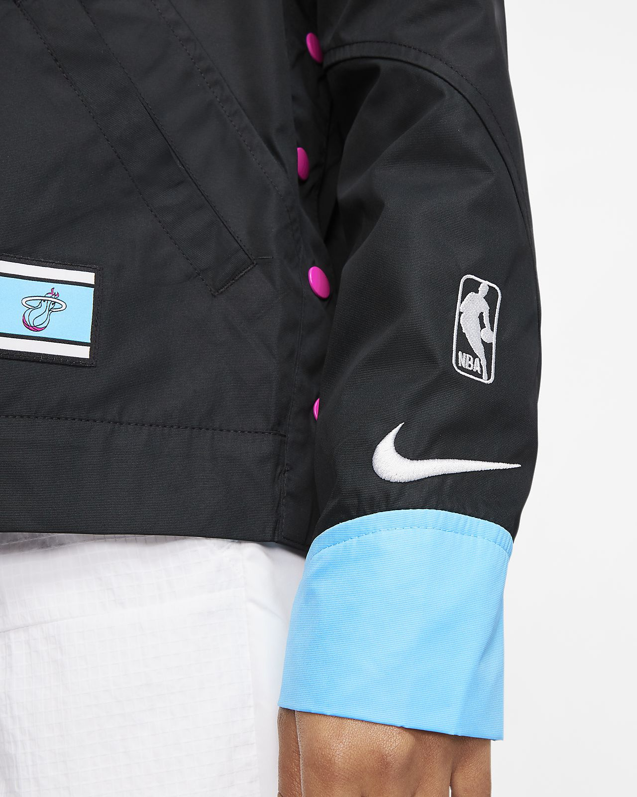 Veste à boutons pression Nike NBA Miami Heat Courtside City Edition pour Femme