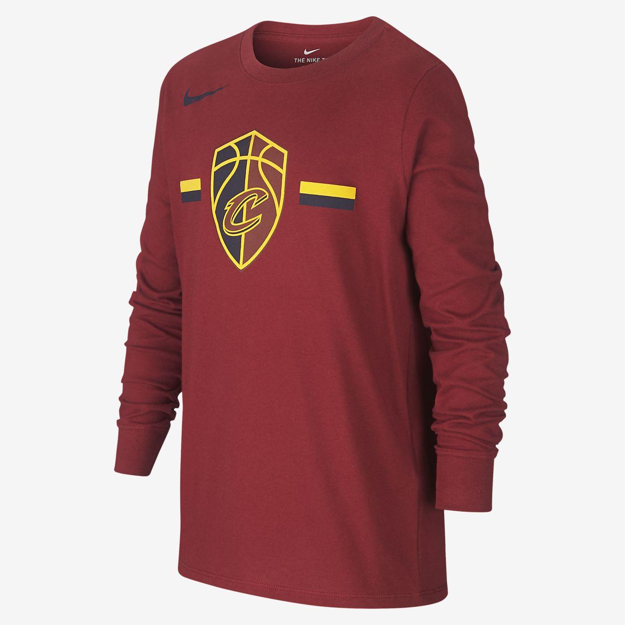T-shirt a manica lunga Cleveland Cavaliers Nike Dri-FIT Logo NBA - Ragazzi