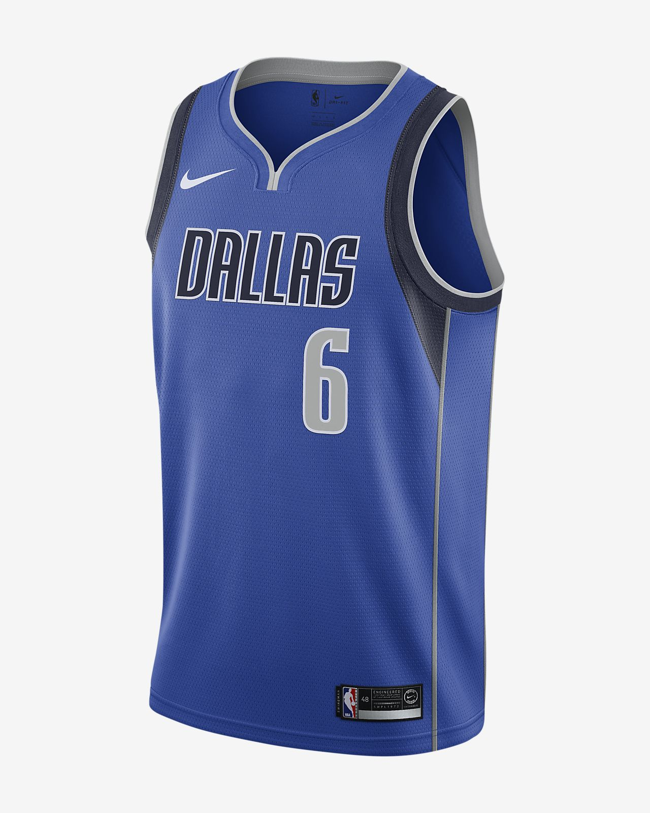 Camiseta Nike NBA Swingman para hombre Kristaps Porzingis Mavericks Icon Edition
