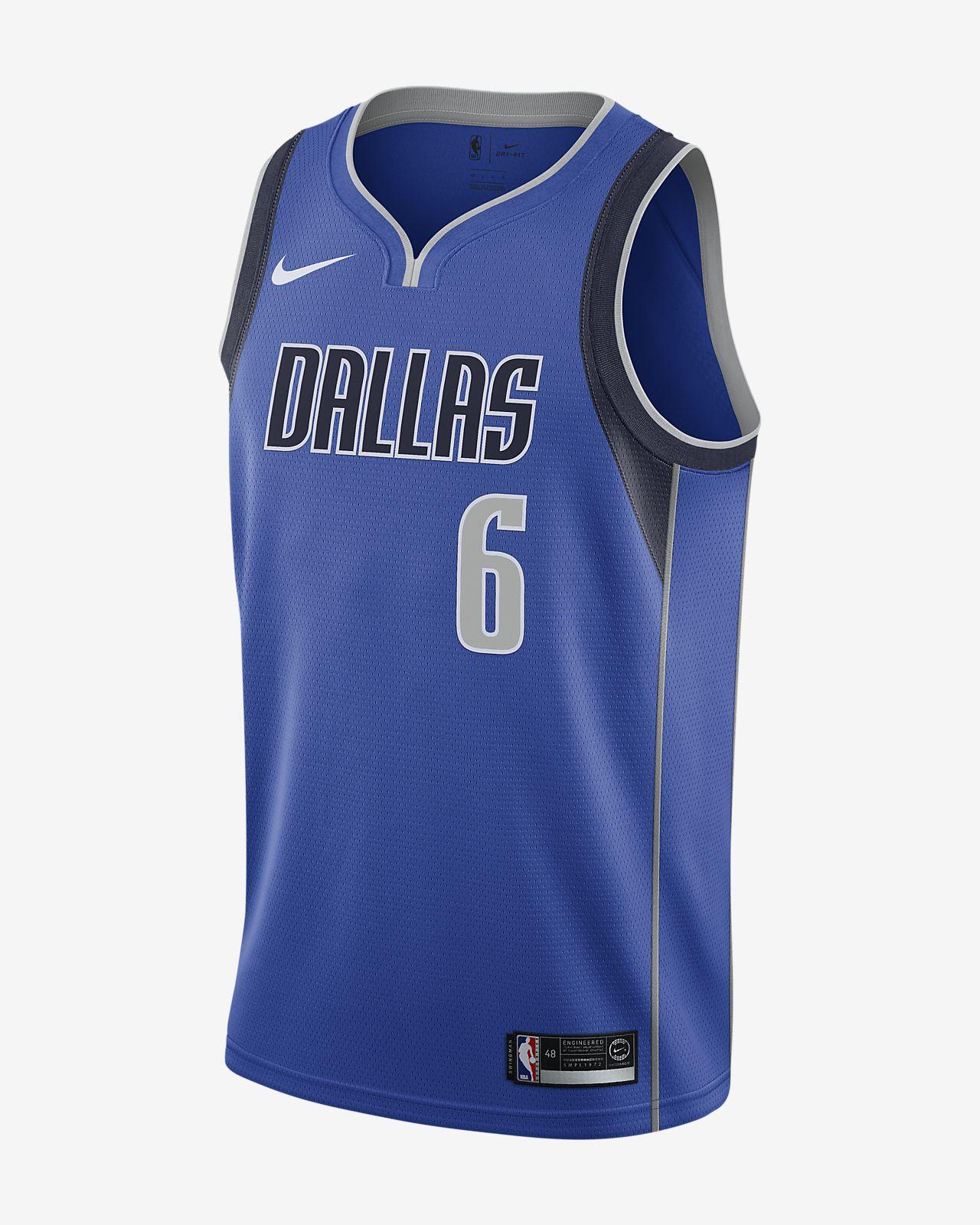 Maillot Nike NBA Swingman Kristaps Porzingis Mavericks Icon Edition pour Homme