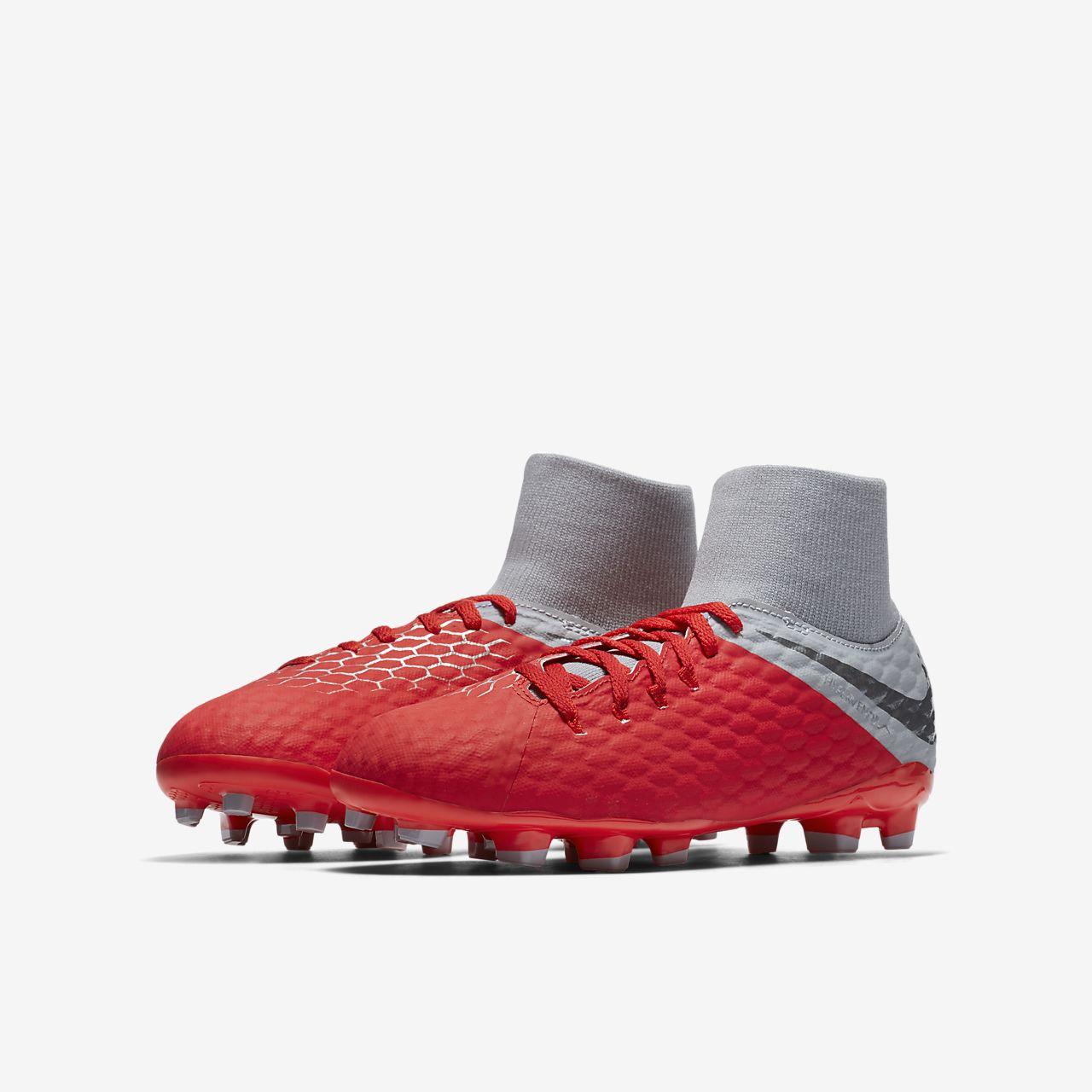 Chaussure de football à crampons pour terrain sec Nike Jr. Hypervenom Phantom III Academy Dynamic Fit FG pour Jeune enfantEnfant plus âgé