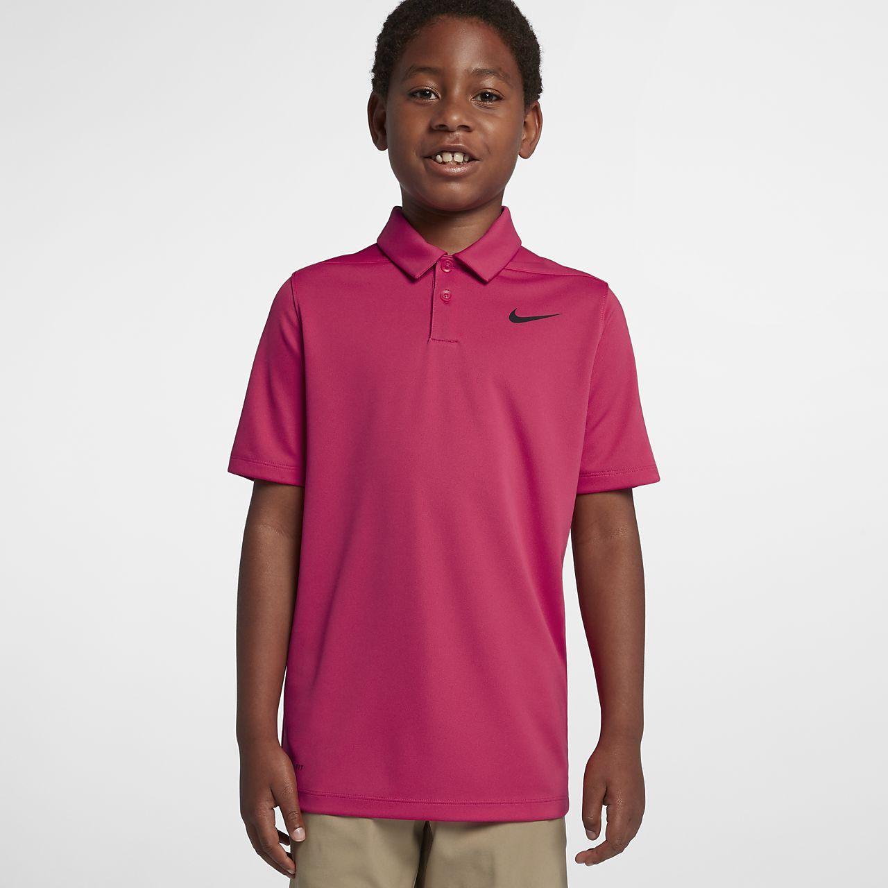 Golfpikétröja Nike Dri-FIT Victory för ungdom (killar)