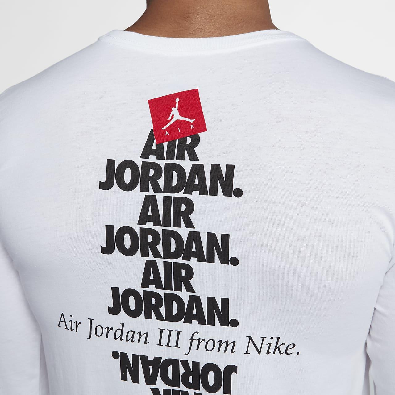 """ジョーダン スポーツウェア AJ 3 """"Do You Know?"""" メンズ ロングスリーブ Tシャツ"""