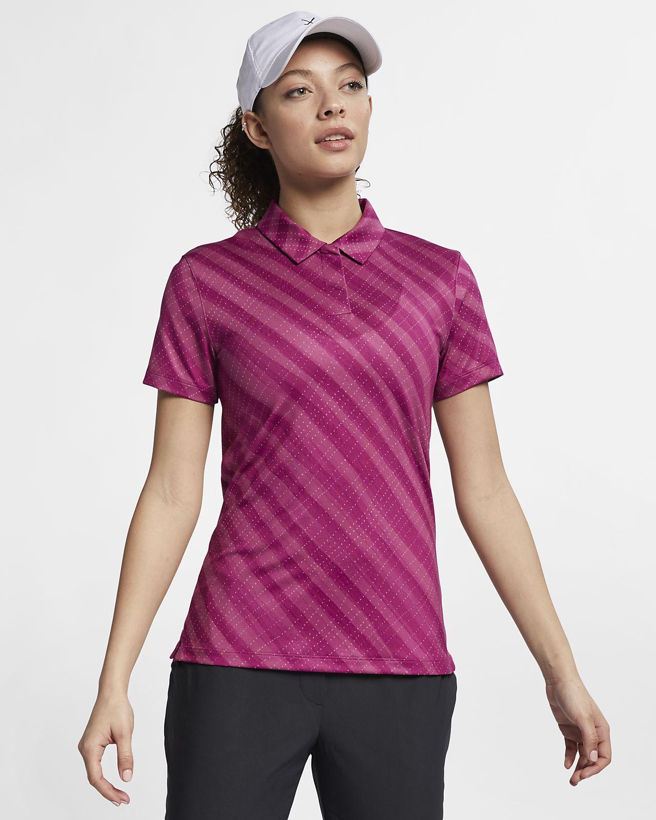 Nike Dri-FIT UV-golfpolo med print til kvinder