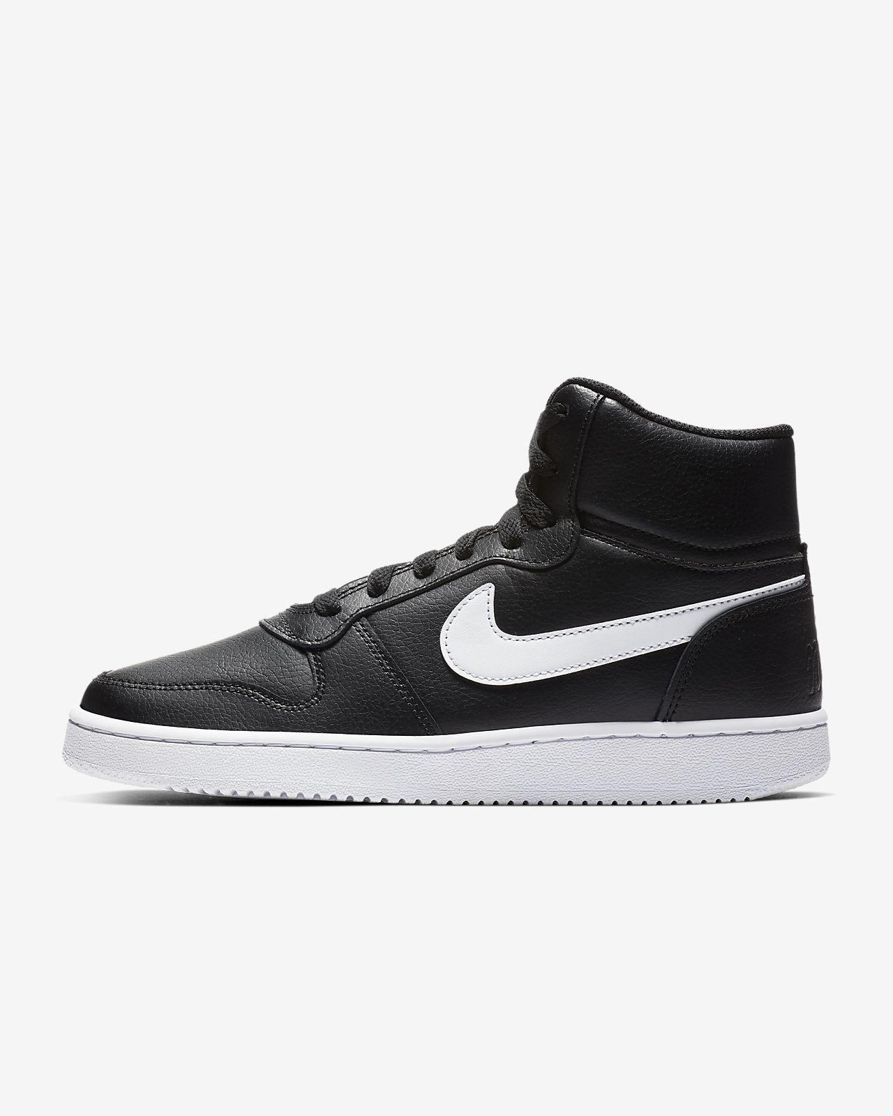 Black//White 001 41 EU Noir Chaussures de Basketball Femme Nike Ebernon Mid