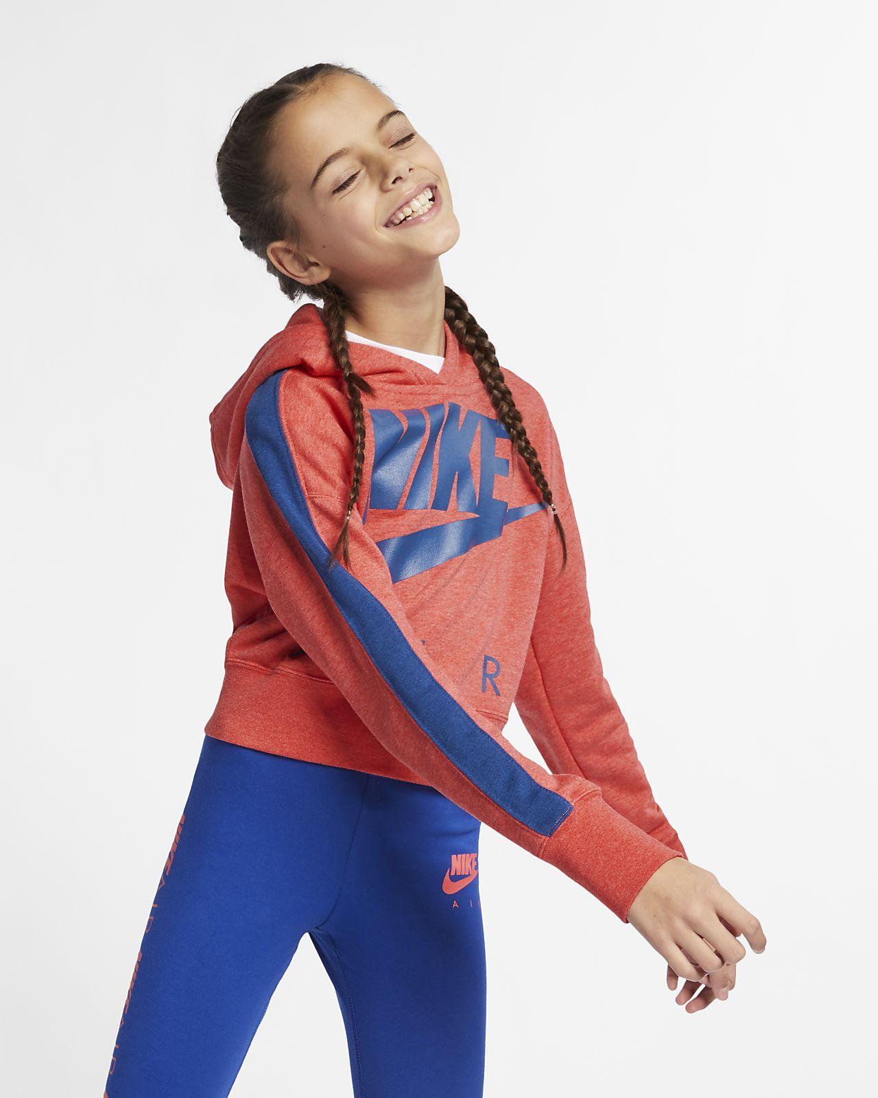 Sudadera con capucha corta para niña talle grande Nike Air