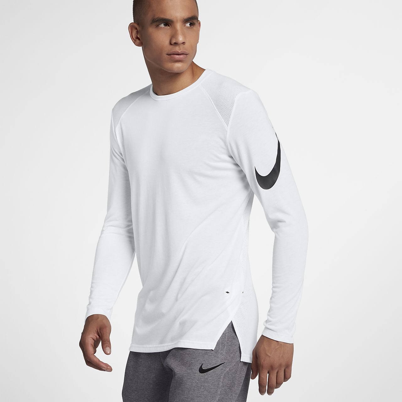... Nike Breathe Elite Men's Long-Sleeve Basketball Top