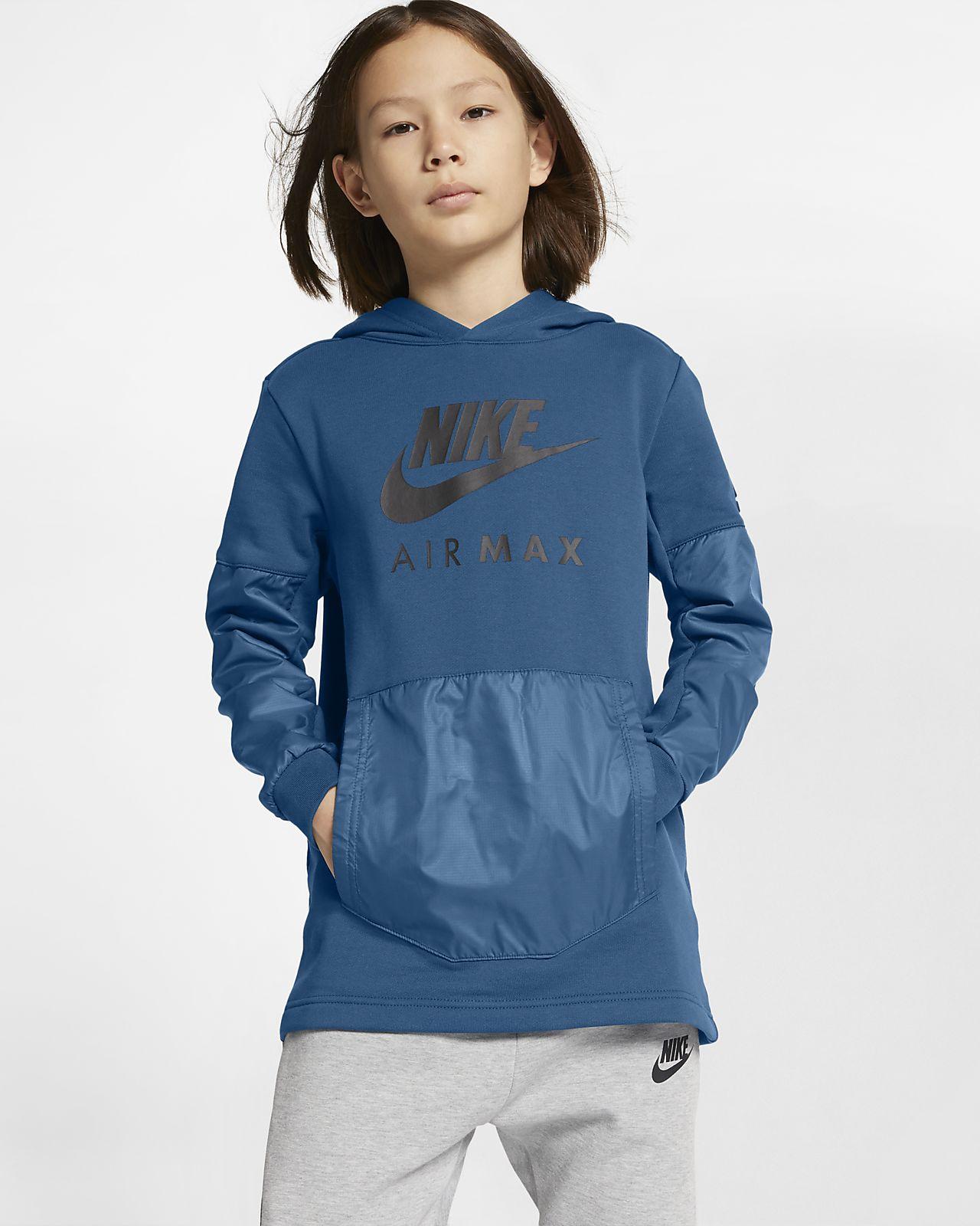Nike Air Max-pullover-hættetrøje til store børn (drenge)