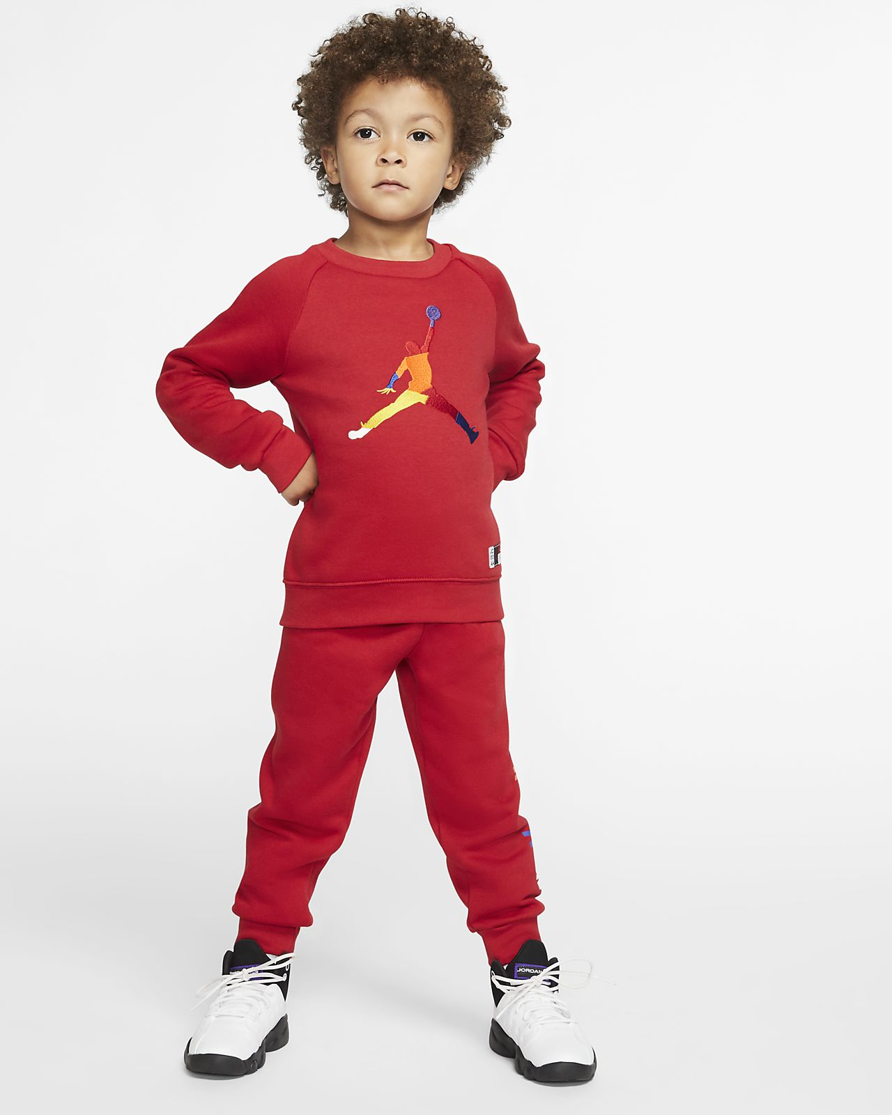Completo in 2 pezzi con maglia a girocollo e jogger Jordan Jumpman - Bimbi piccoli