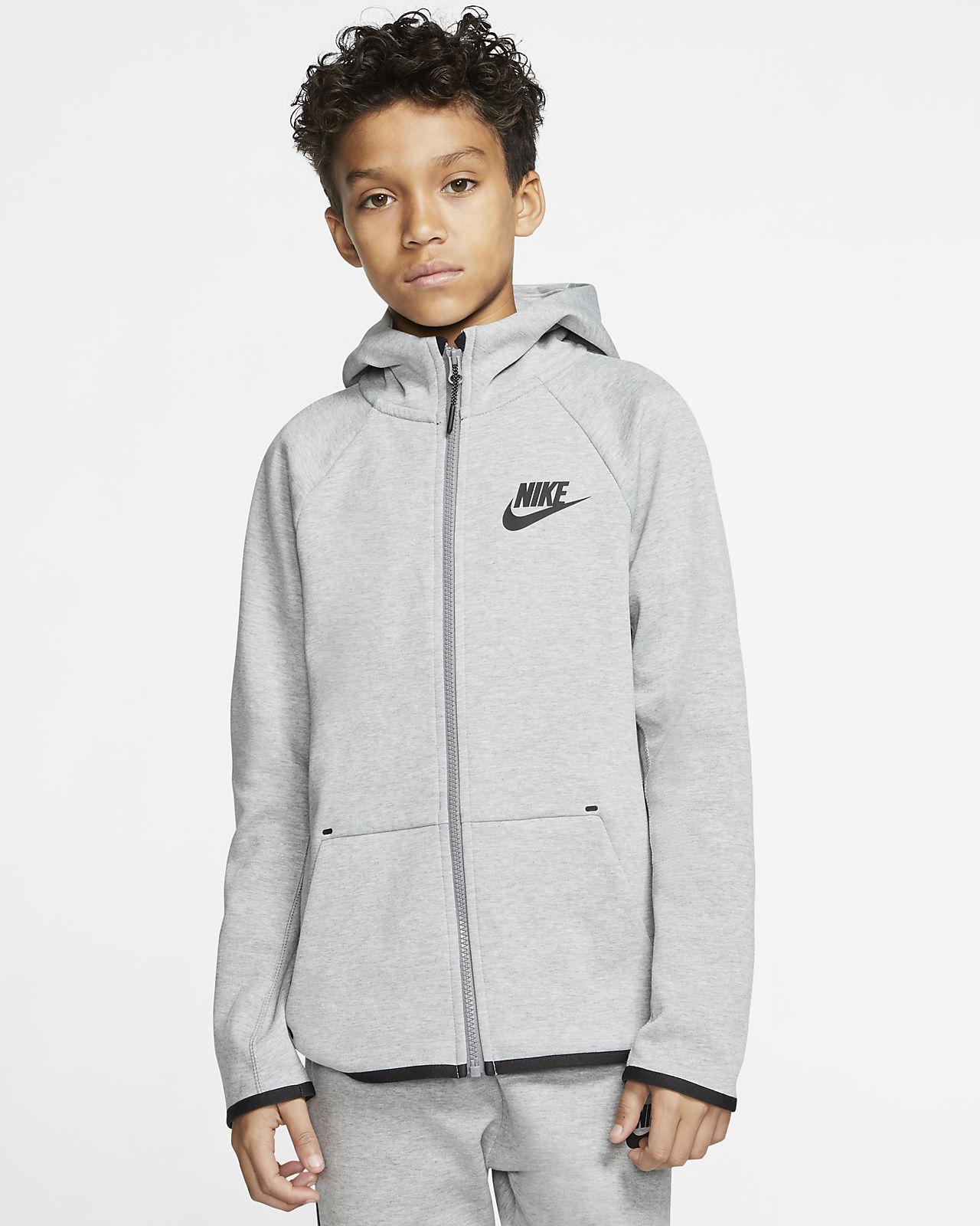 Giacca con zip a tutta lunghezza Nike Sportswear Tech Fleece Ragazzi