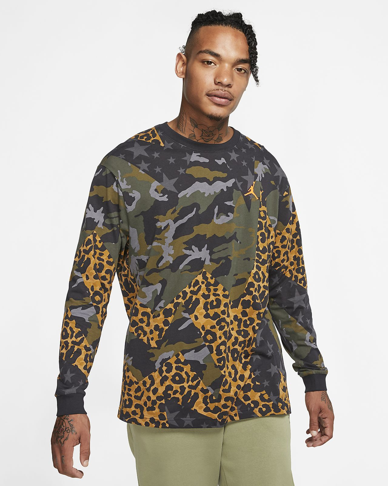 Jordan Animal Instinct Men's Long-Sleeve T-Shirt