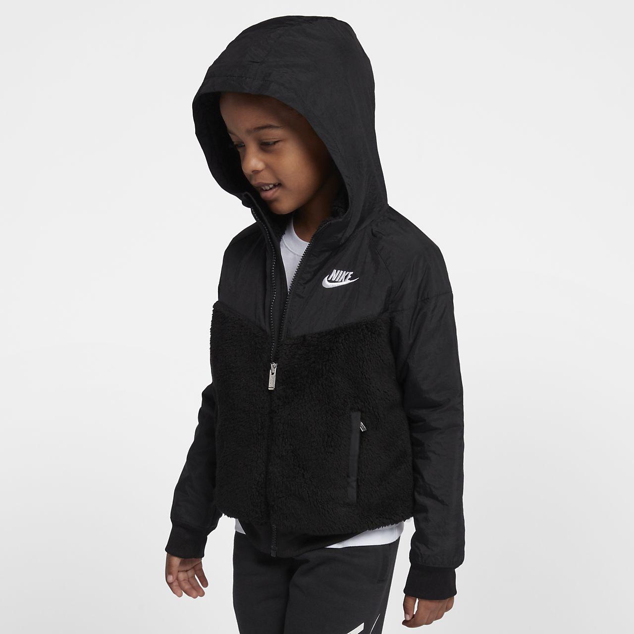 Nike Sportswear Windrunner sherpajakke til små børn