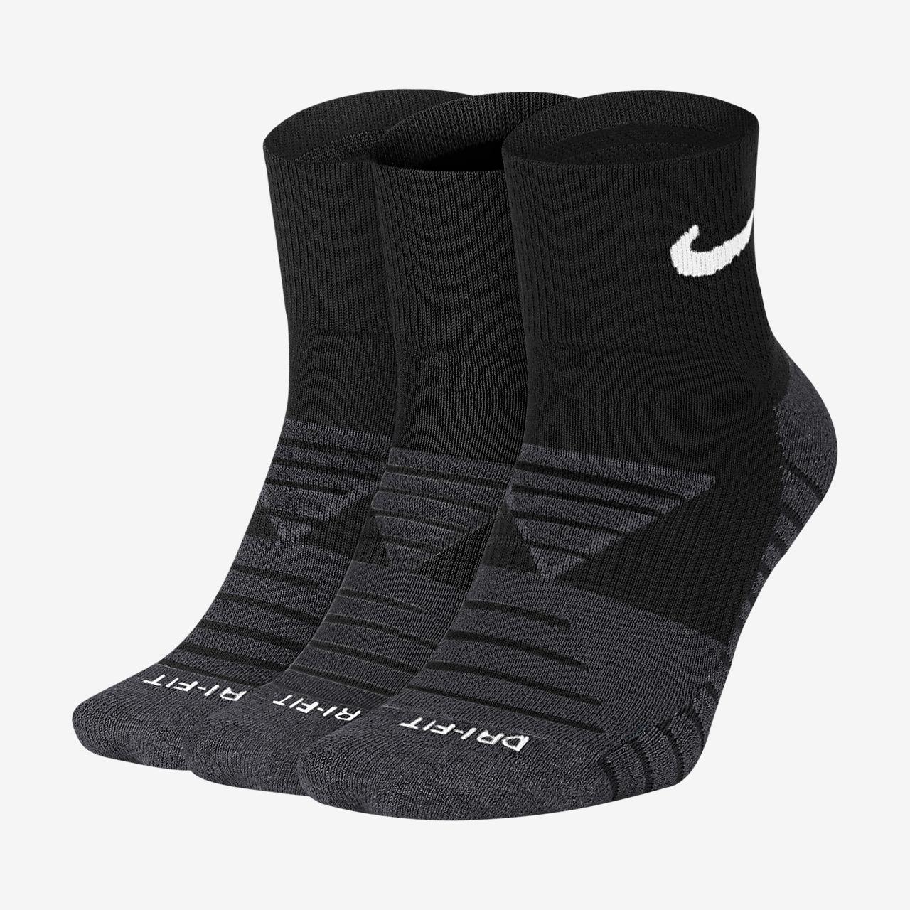 Chaussettes de training Nike Dry Cushion Quarter (3 paires)