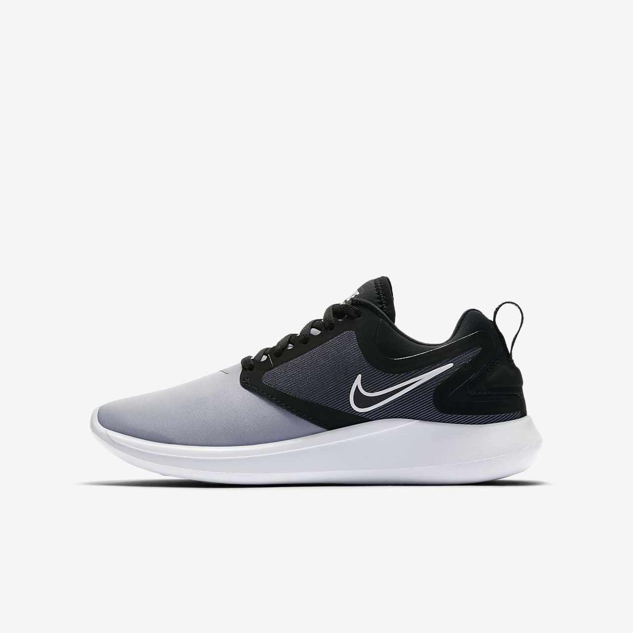Nike LunarSolo Girls Running Shoes Black/White hH5062Z