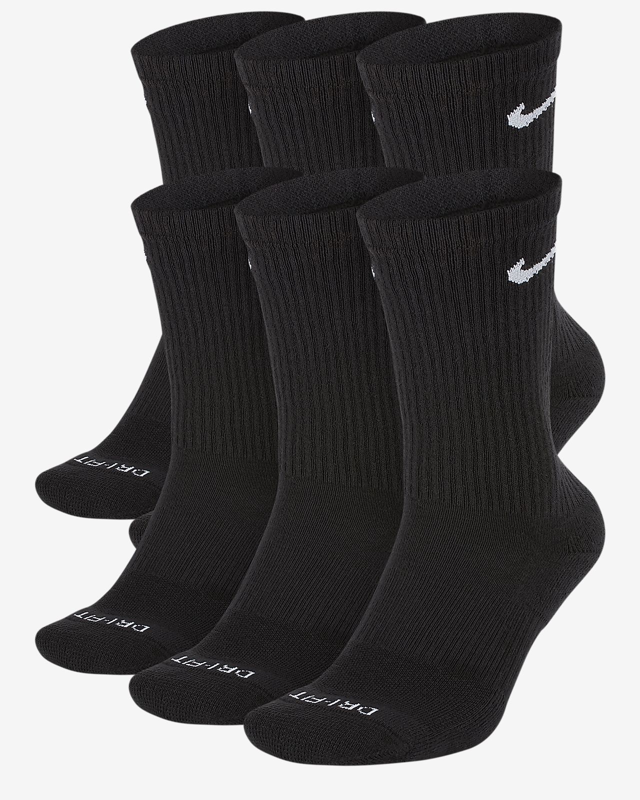 Nike Everyday Cushion Ankle Training Socks 6 Pair