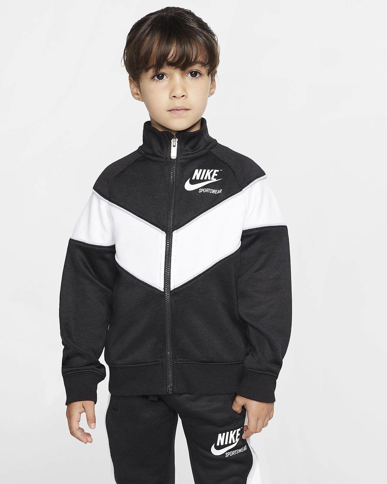 Nike Sportswear jakke med lynlås i fuld længde til små børn