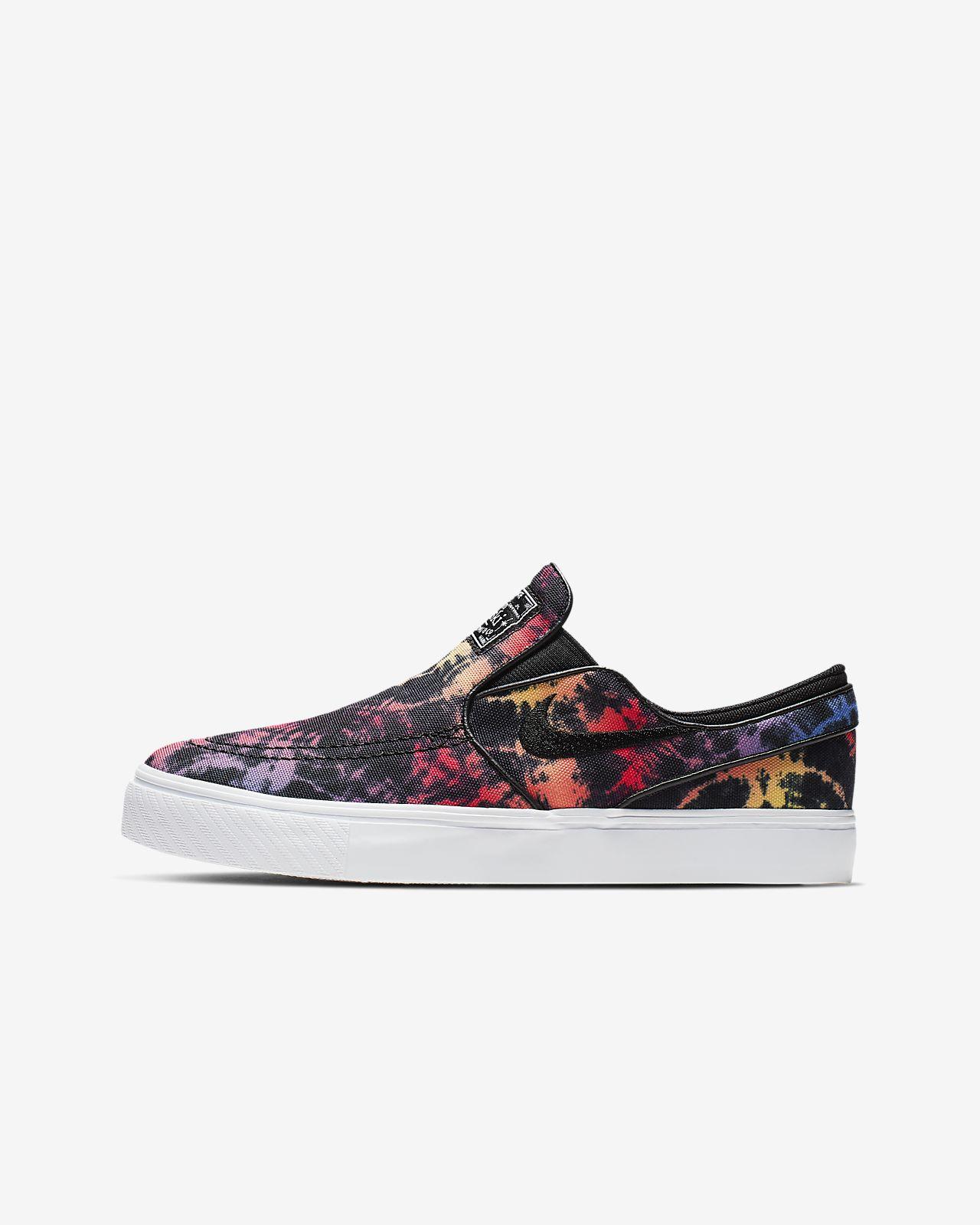 Chaussure de skateboard Nike SB Stefan Janoski Canvas Slip Tie Dye pour Enfant plus âgé