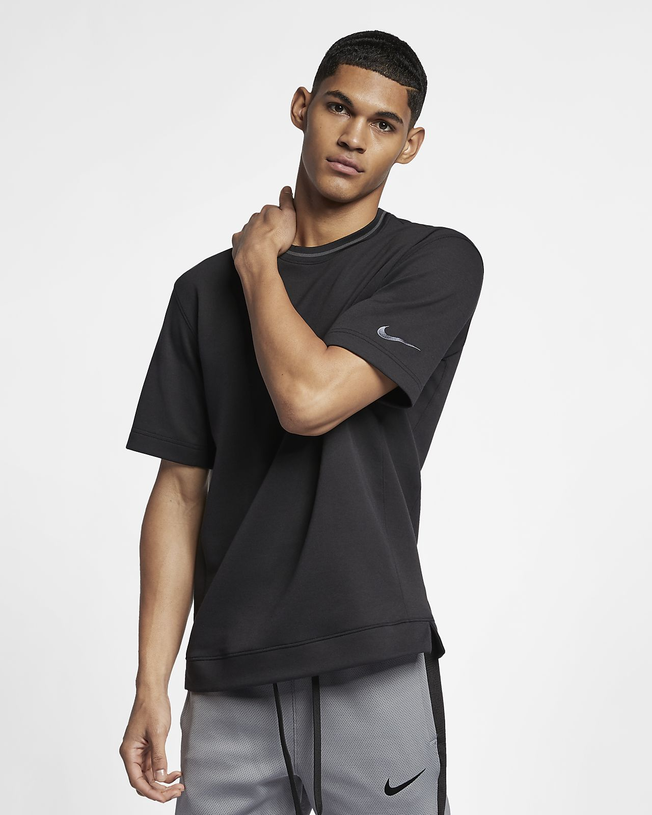 Maglia da basket a manica corta Nike Dri FIT Uomo