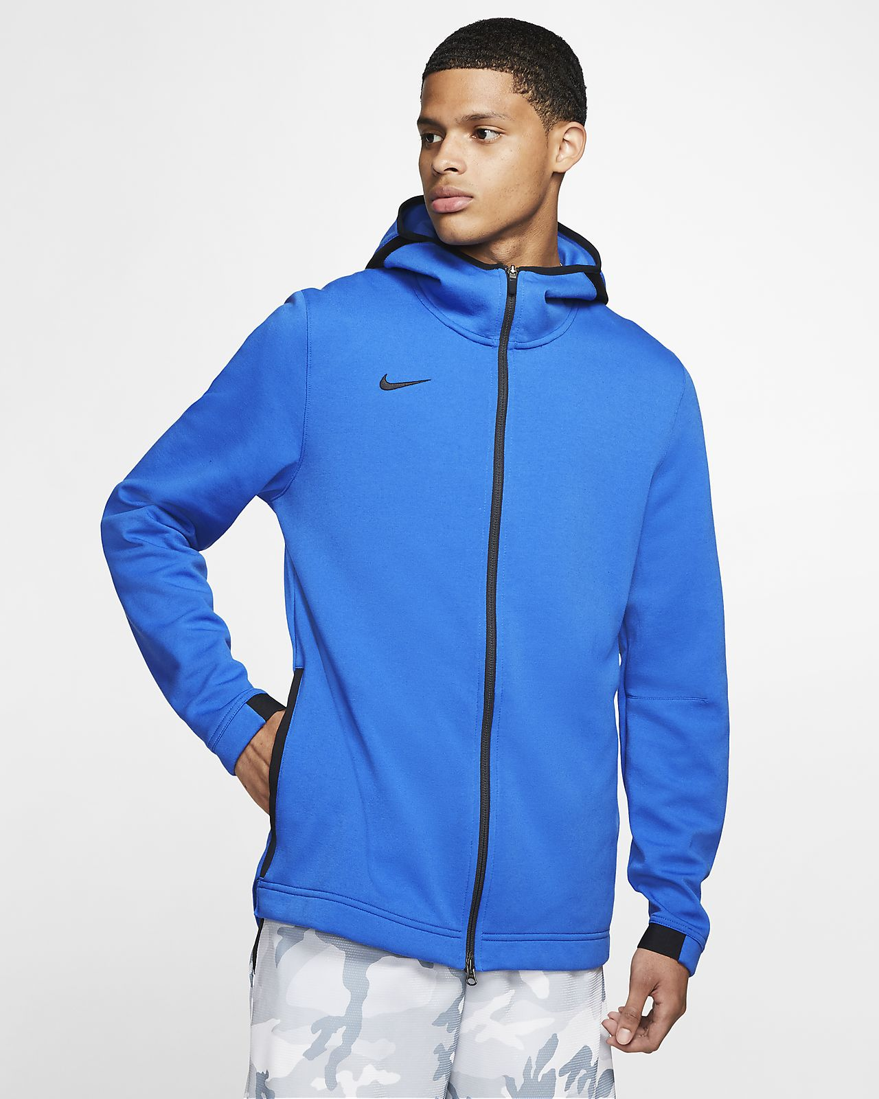 Nike Dri FIT Showtime Men's Full Zip Basketball Hoodie