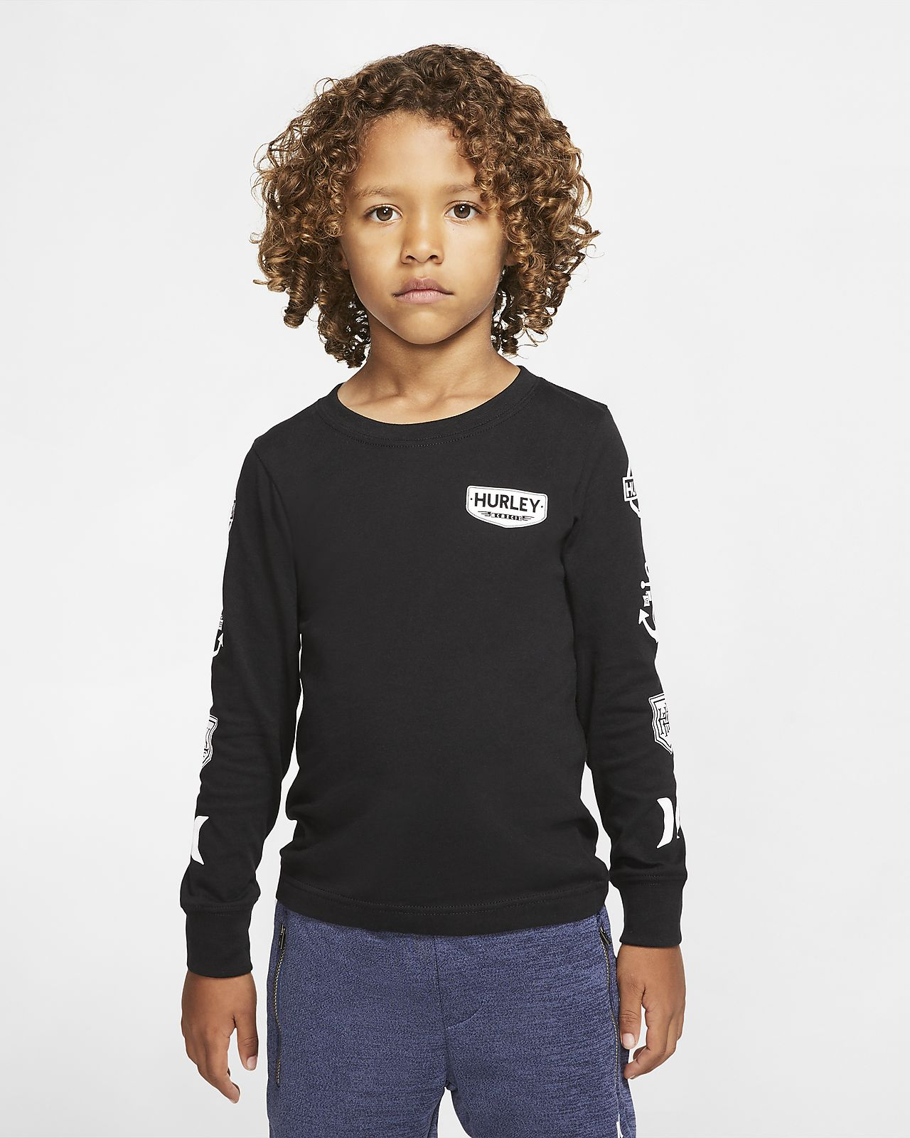 Hurley Patch Sleeve Kids' Long Sleeve T Shirt