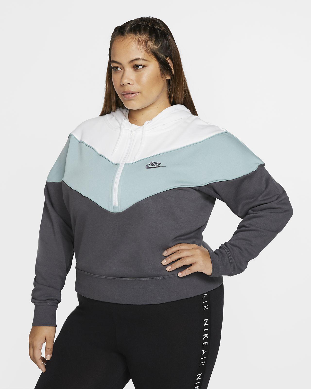 cien tarjeta Marty Fielding  ce3829d8a4 nike sportswear hrtg hooded sweatshirt for women grey ...